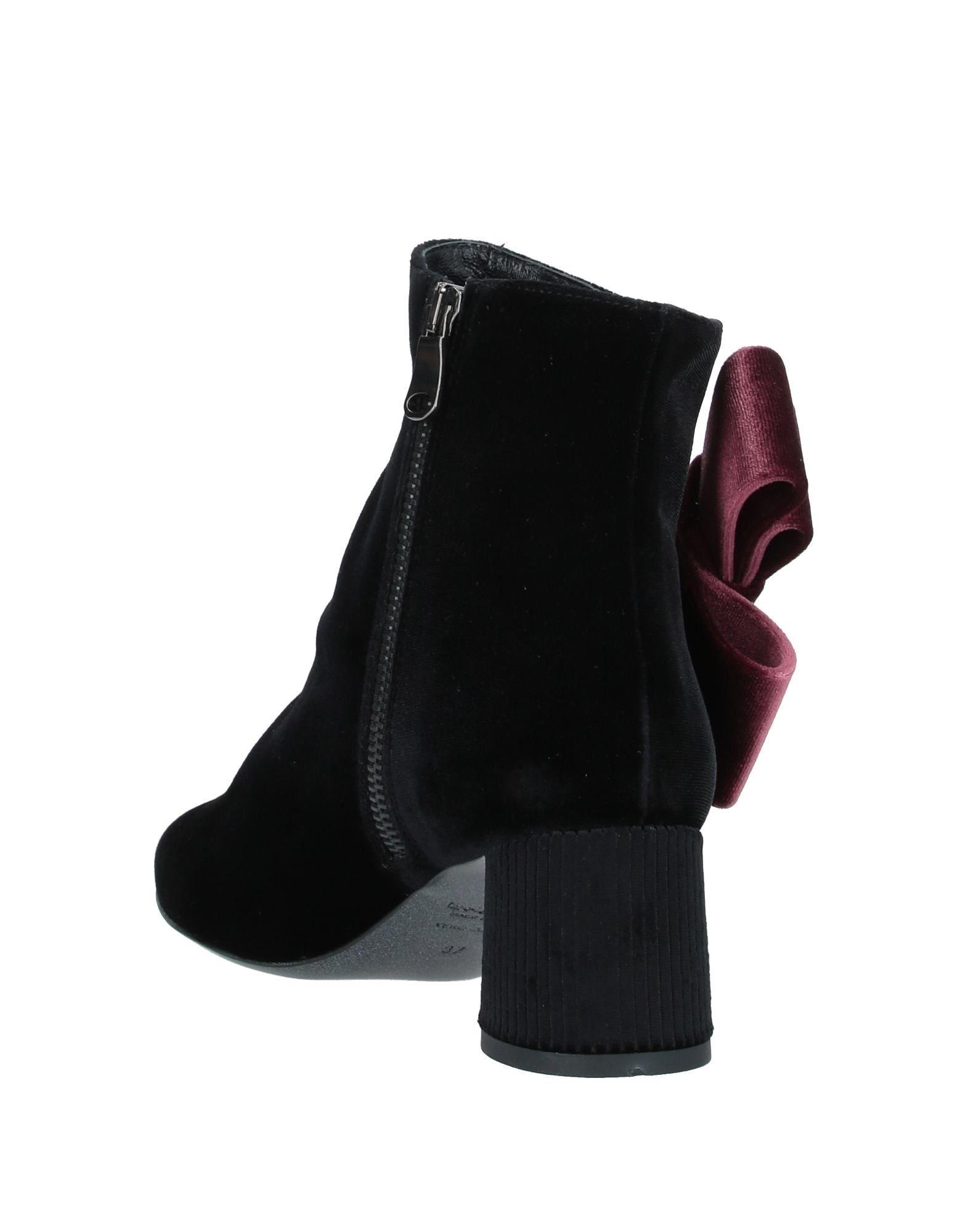 Tipe E Tacchi Women's Ankle Boots Black Textile Fibres
