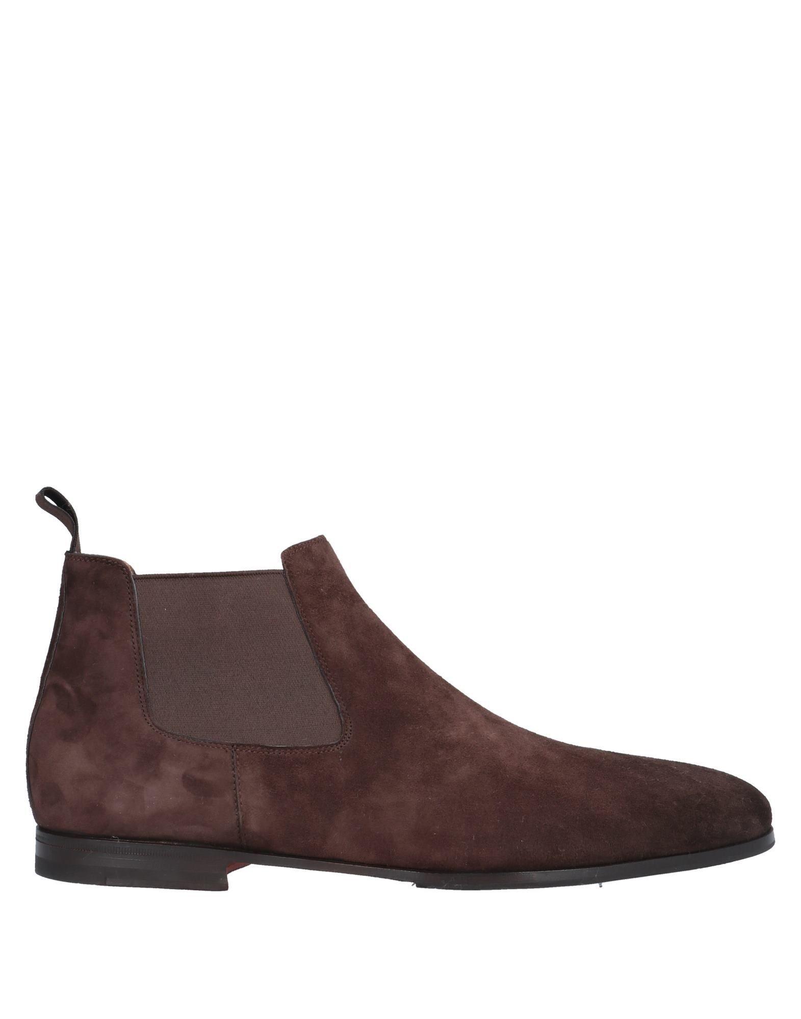 Santoni Man Ankle boots Cocoa Leather