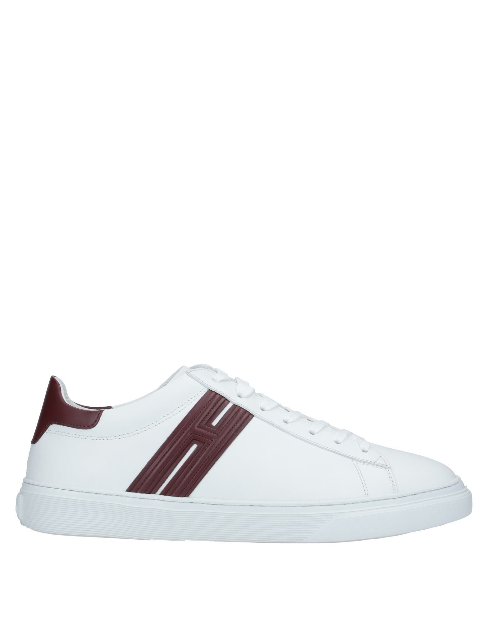 Hogan White Leather Sneakers