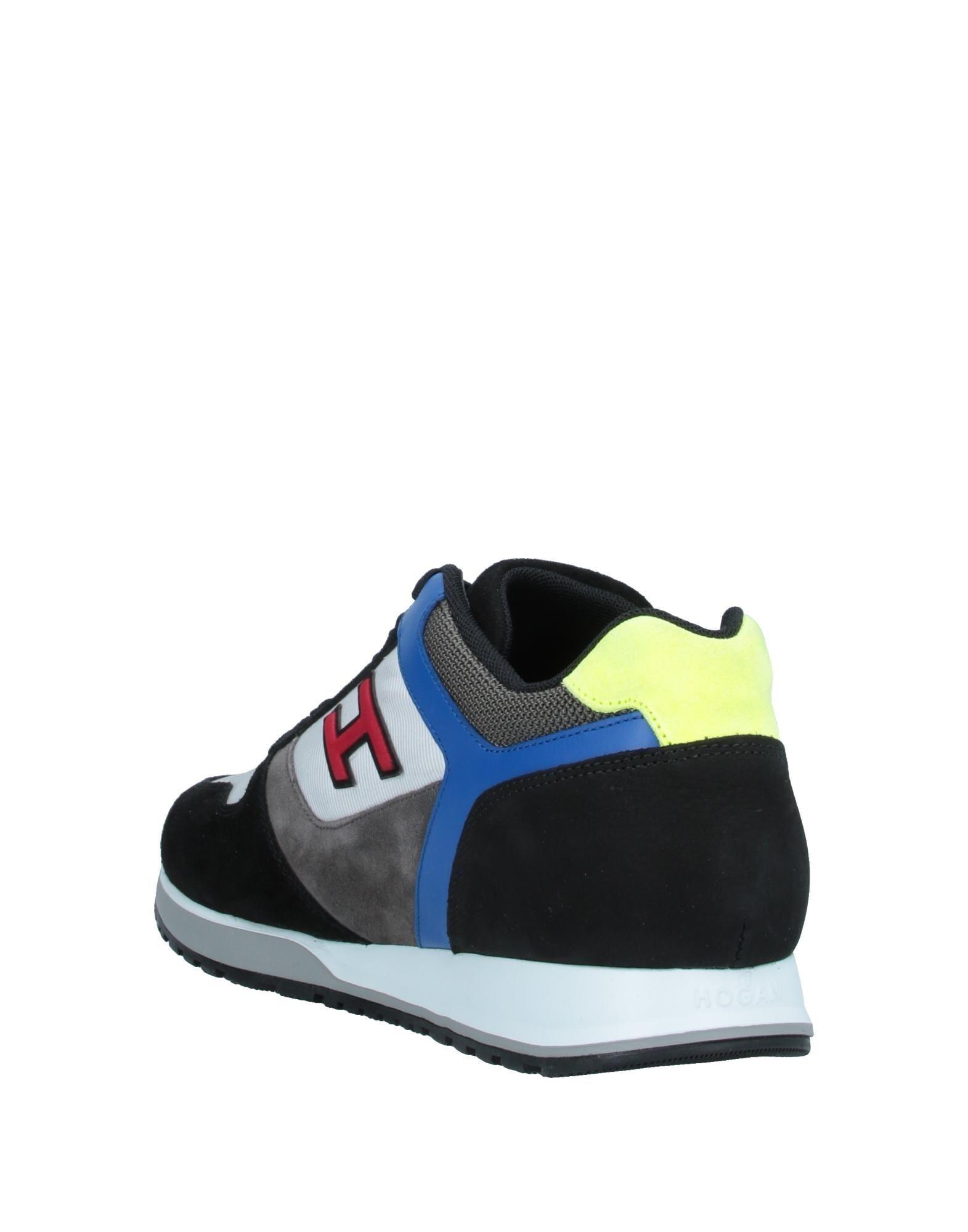 Hogan Black Leather Sneakers