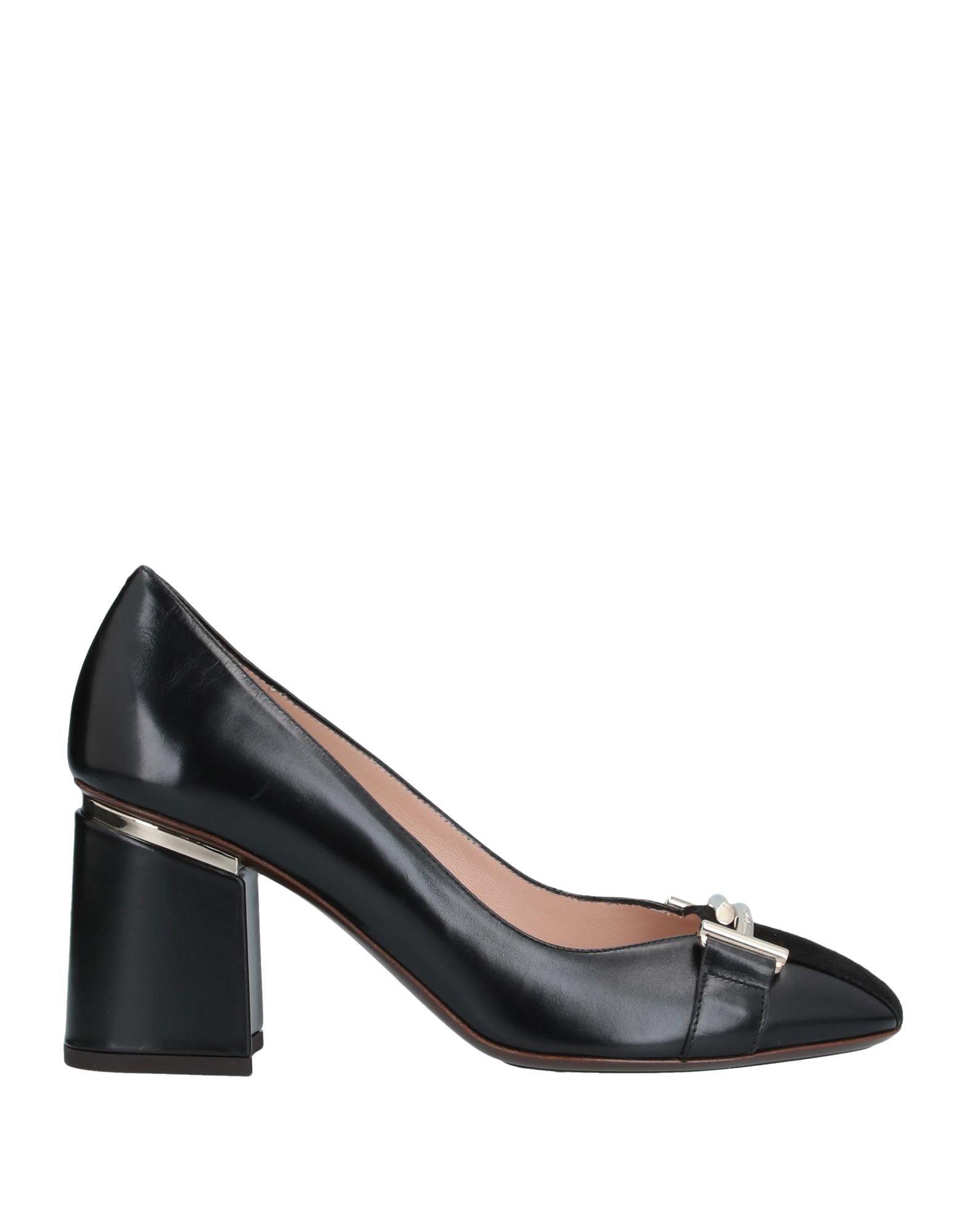 Tod's Black Leather Heels