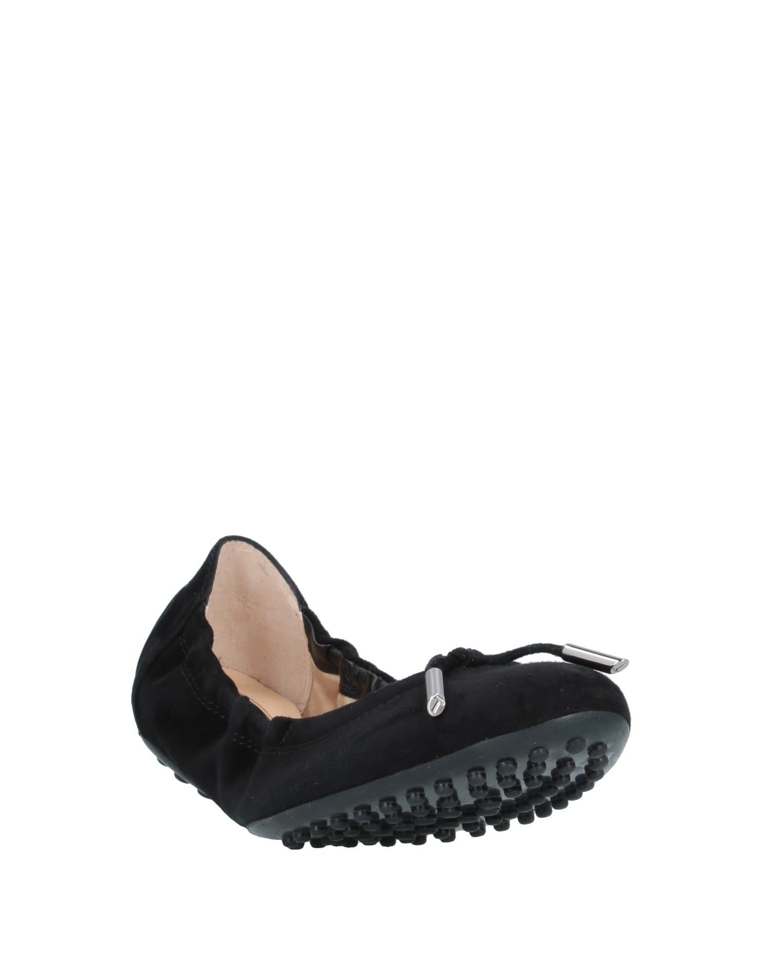 Tod's Black Leather Ballet Flats