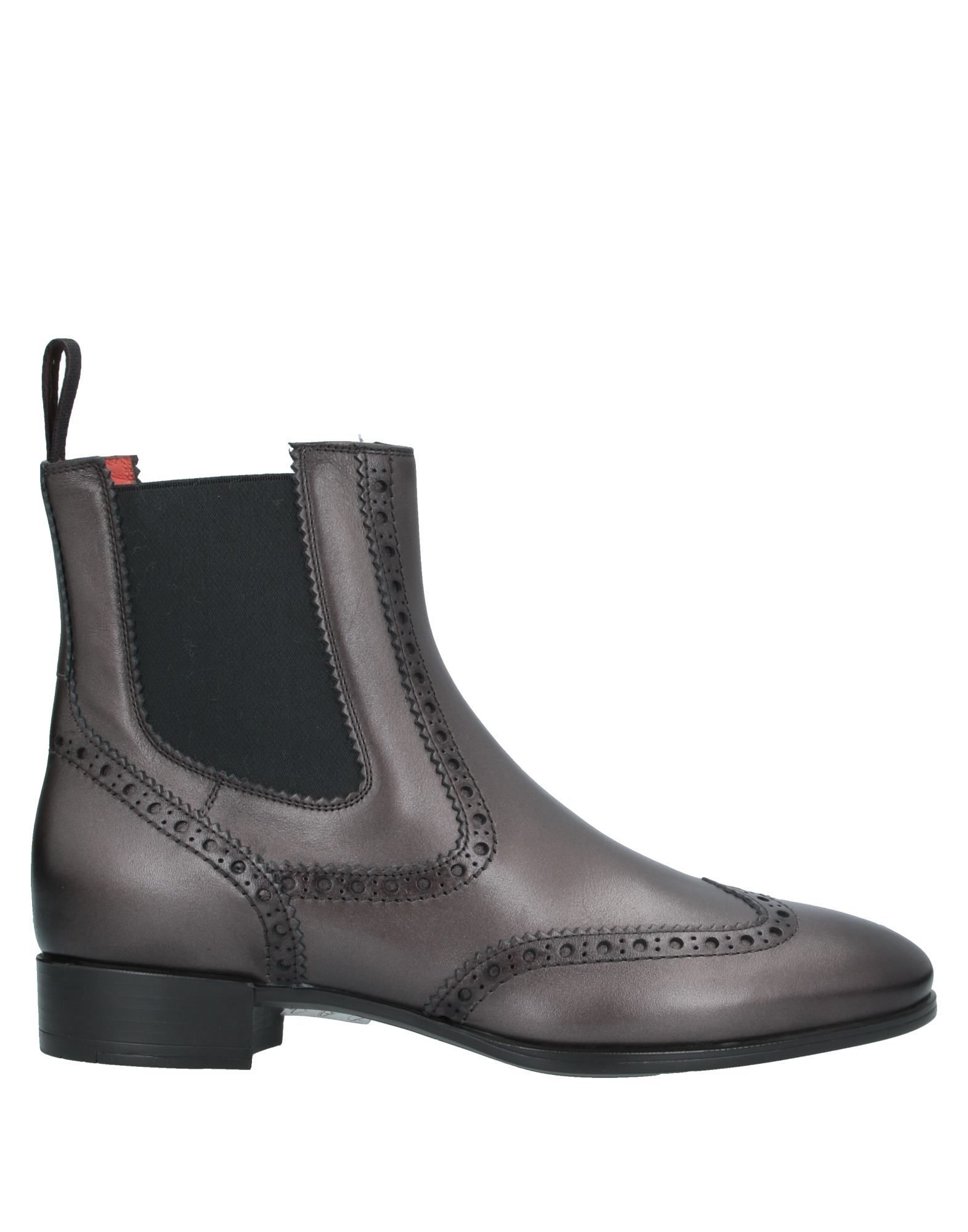 Santoni Women's Ankle Boots Lead Leather