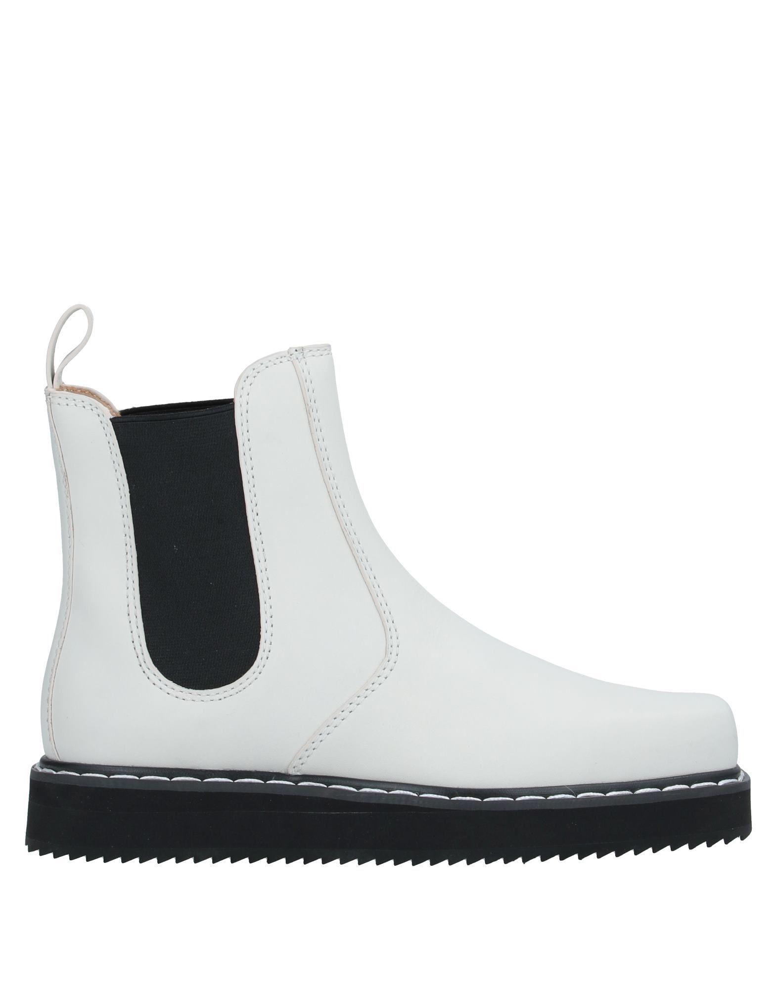 Jil Sander Navy Ivory Calf Leather Flatform Ankle Boots