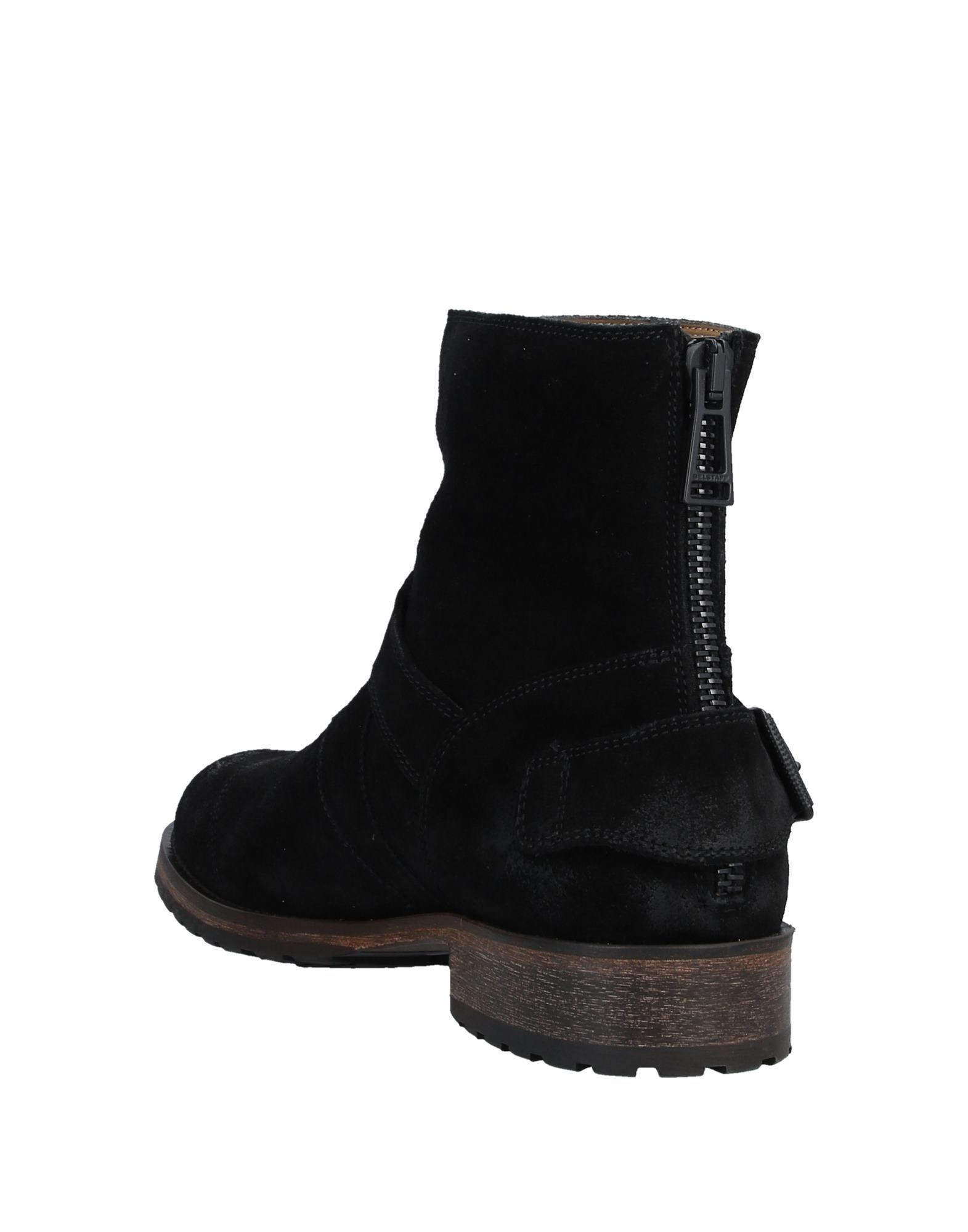 Belstaff Black Leather Ankle Boots