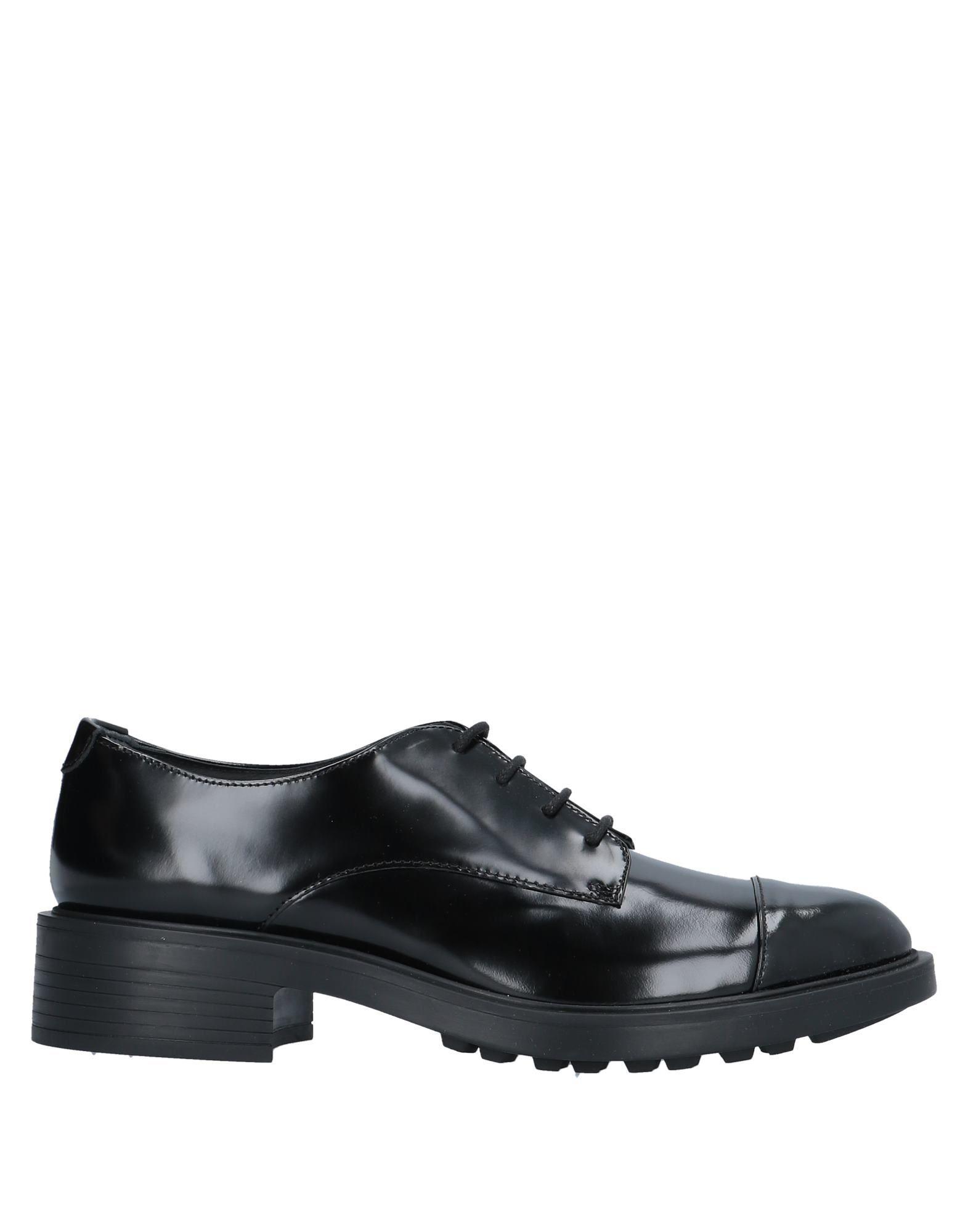 Hogan Black Leather Lace Up Shoes