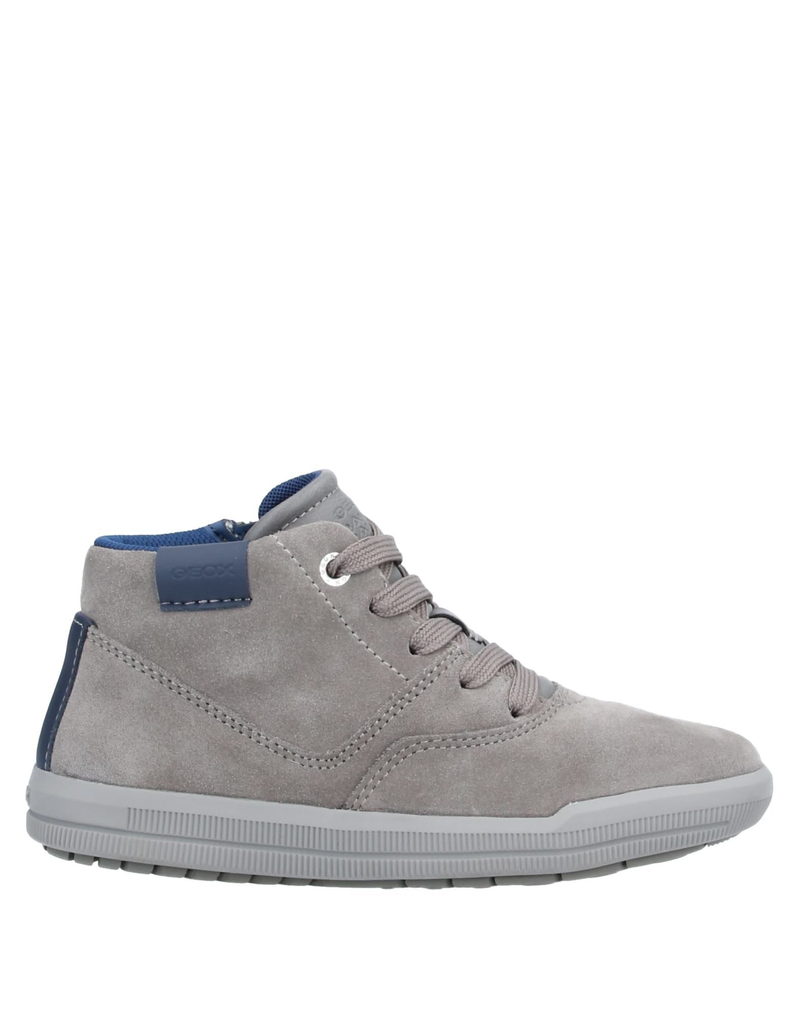 Geox Boy High-Tops & Sneakers Dove Grey Leather