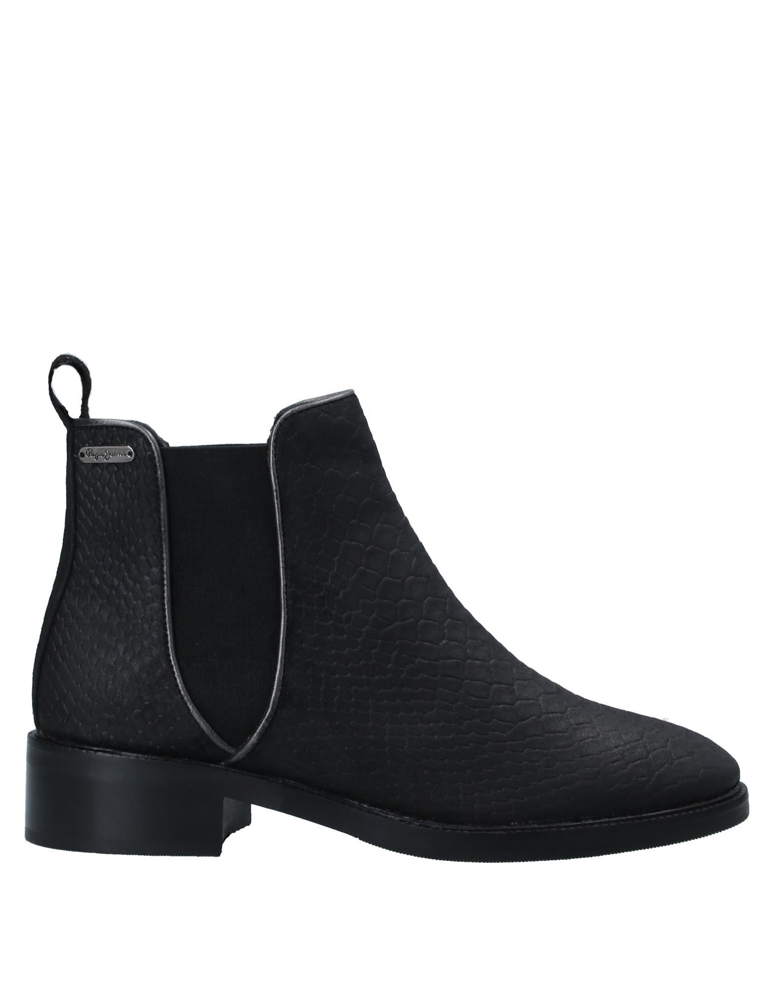 Pepe Jeans Black Leather Chelsea Boots