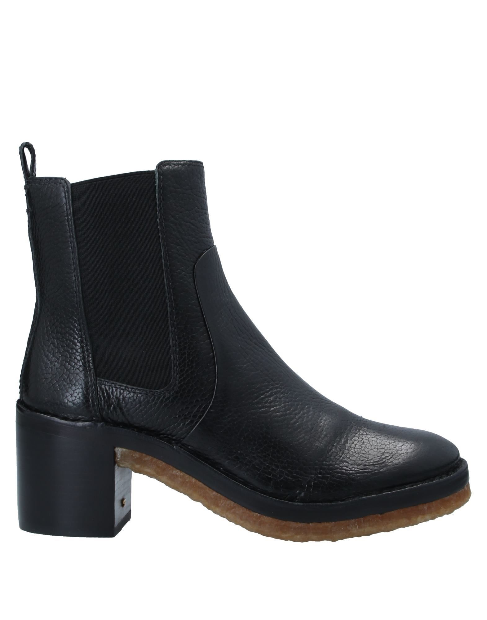 Tory Burch Black Textured Leather Ankle Boots