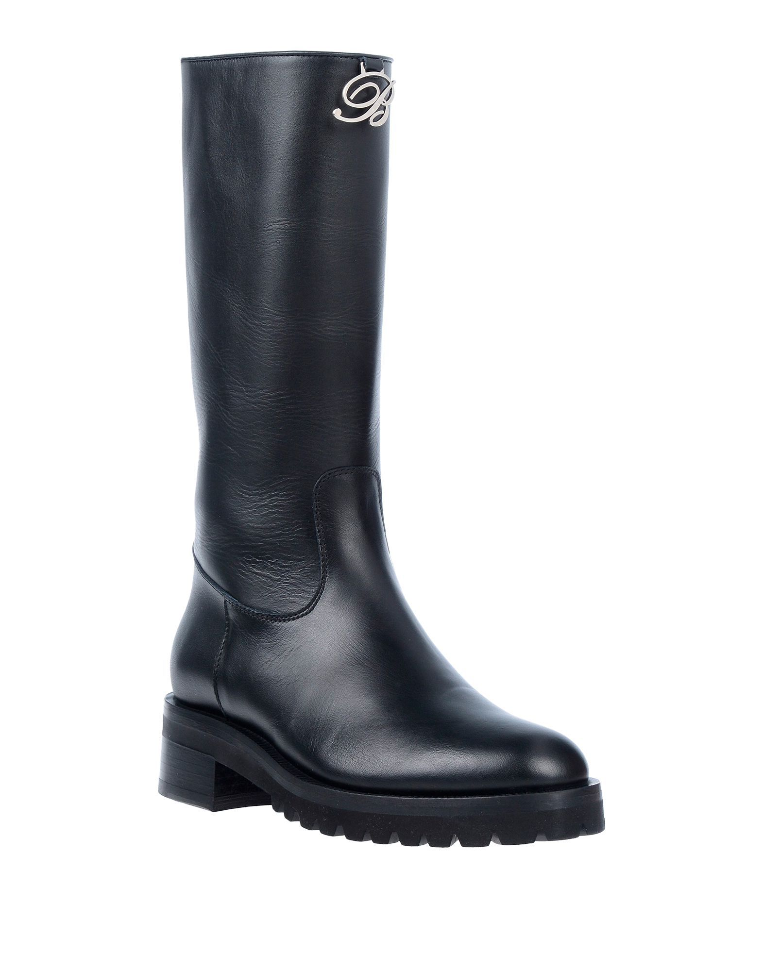 Blumarine Black Leather Boots