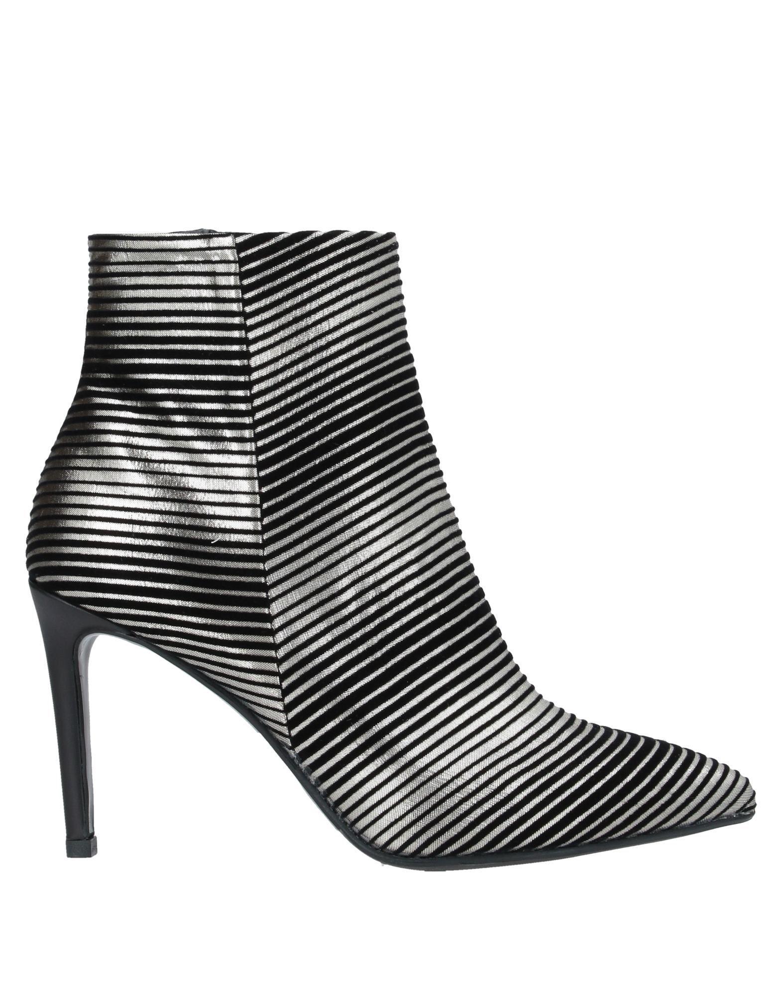 Gianni Marra Women's Ankle Boots Black Textile Fibres