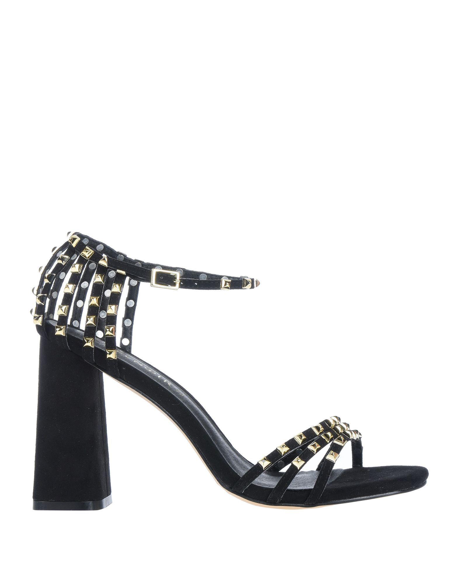 Cafenoir Black Studded Heeled Sandals