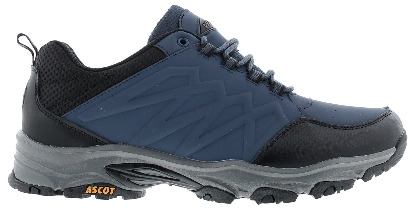 Mens Nubuck Pu/Leather Hiker Shoe With Padded Collar Leather Mudguard And Counter Padded Sock And Me