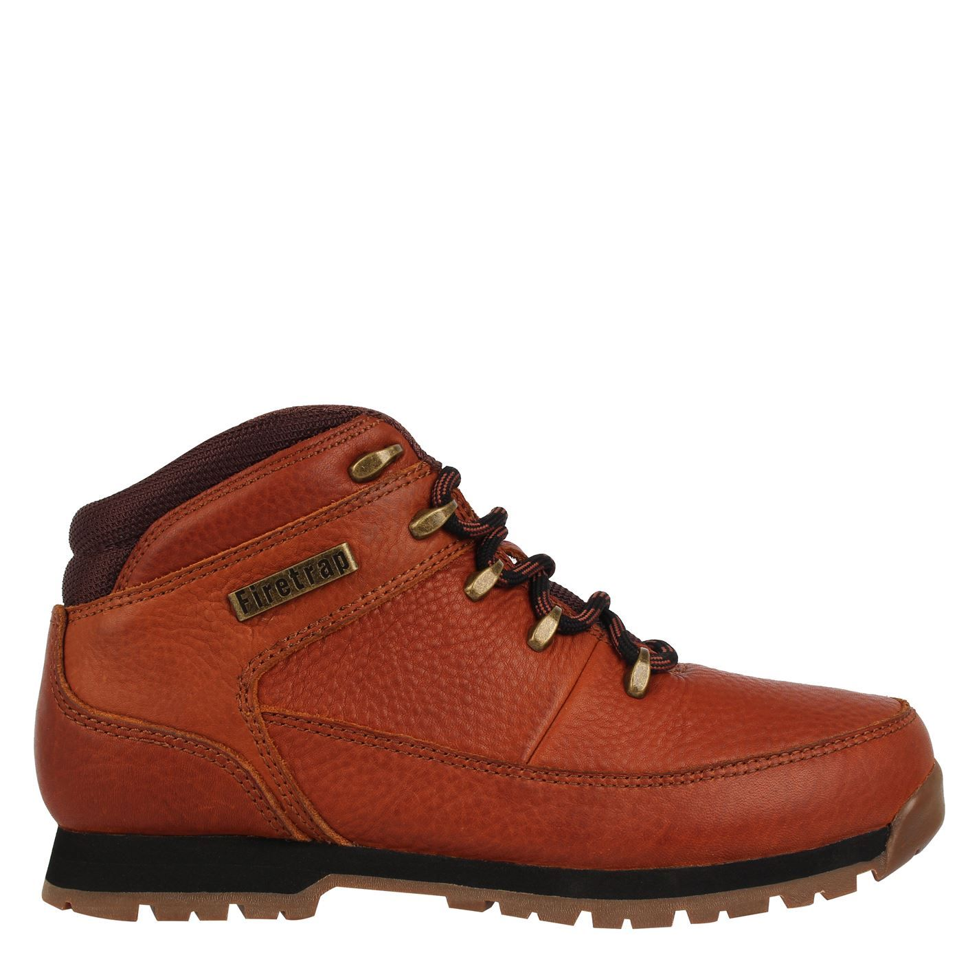 Firetrap Rhino Mens Ankle Boots Casual Walking Shoes Grip Sole Lace Up Leather