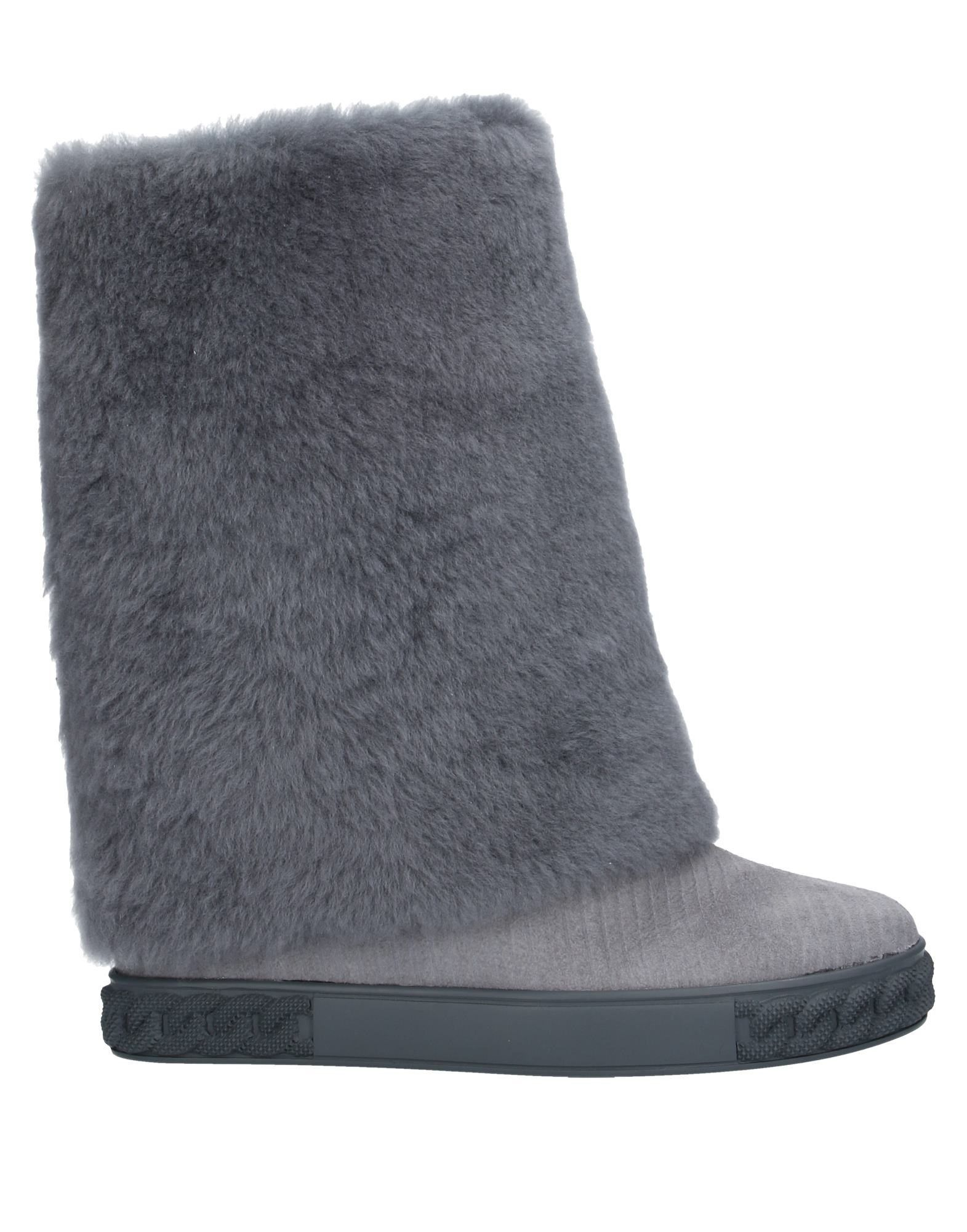 Casadei Grey Leather Boots