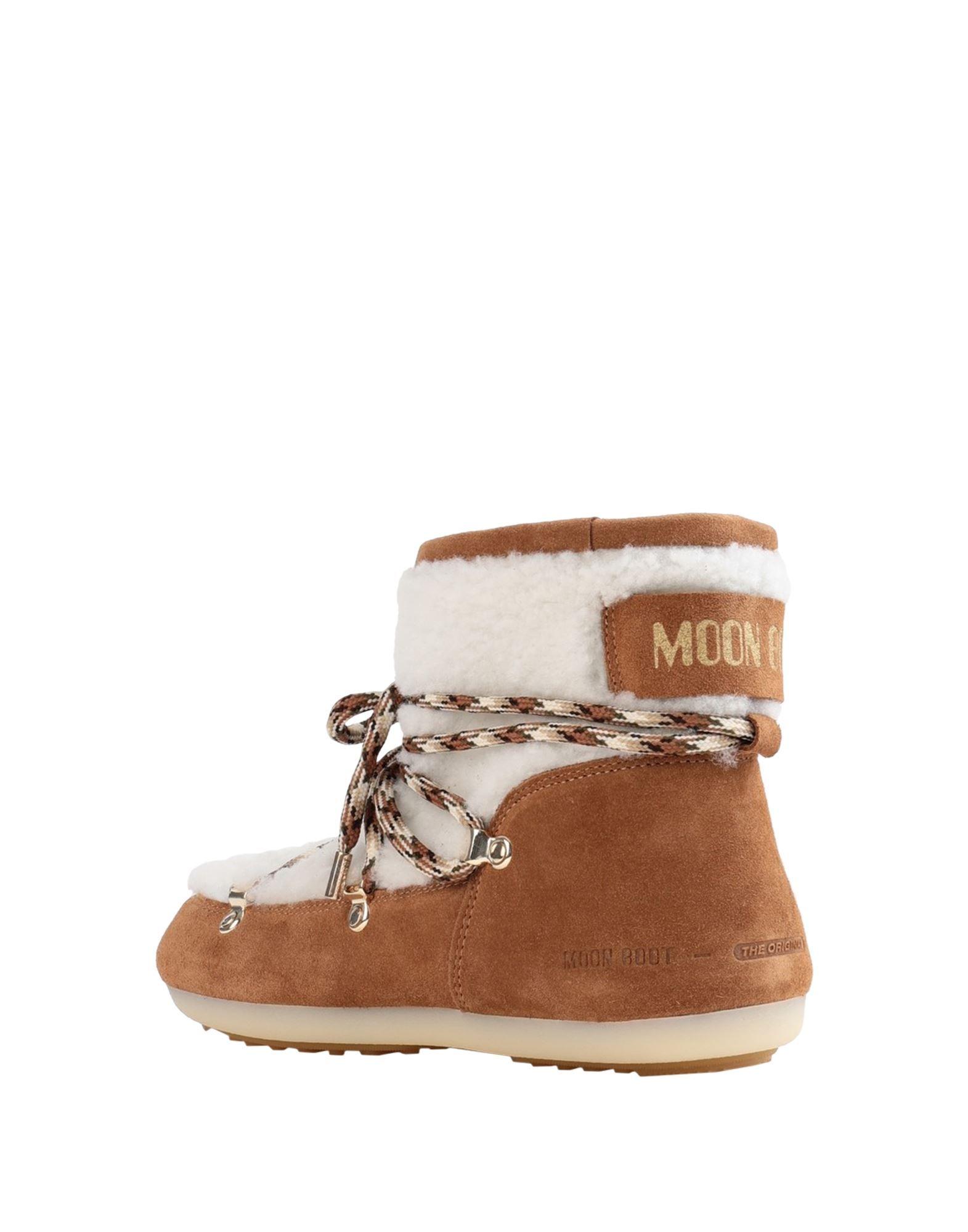 Moon Boot Women's Ankle Boots Camel Sheepskin