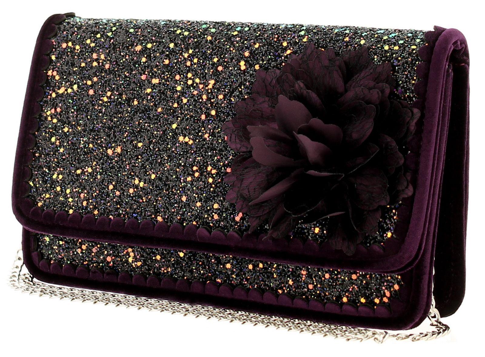 Joe Browns Couture rebel bag couture womens bag black/purple/glitter