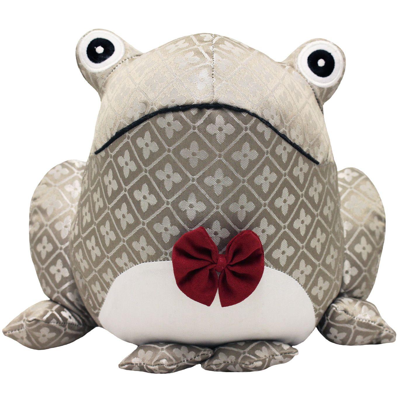 Jacquard Frog Doorstop, Multi