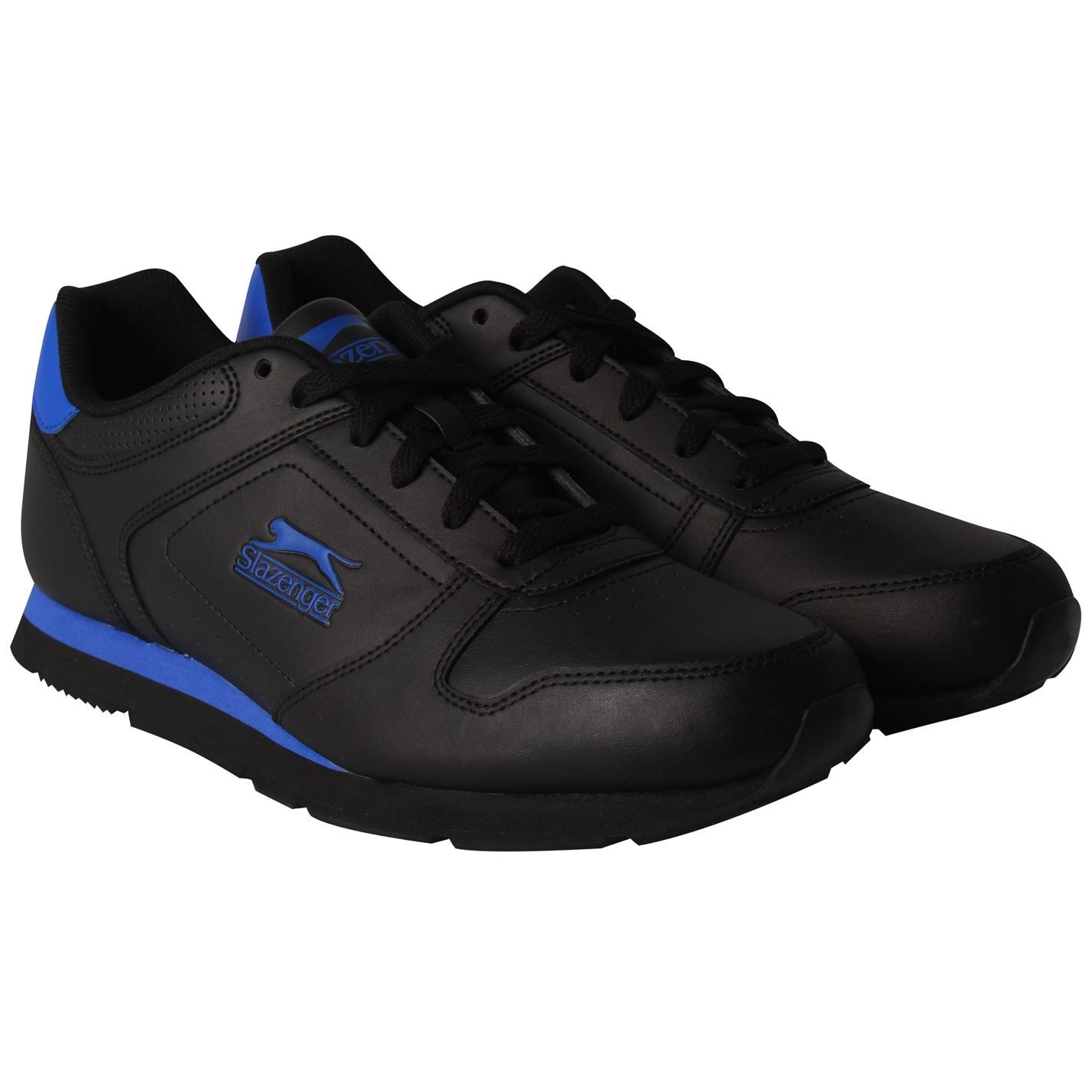 Slazenger Classic Mens Lace Up Leather Trainers Sneakers Casual Sports Shoes
