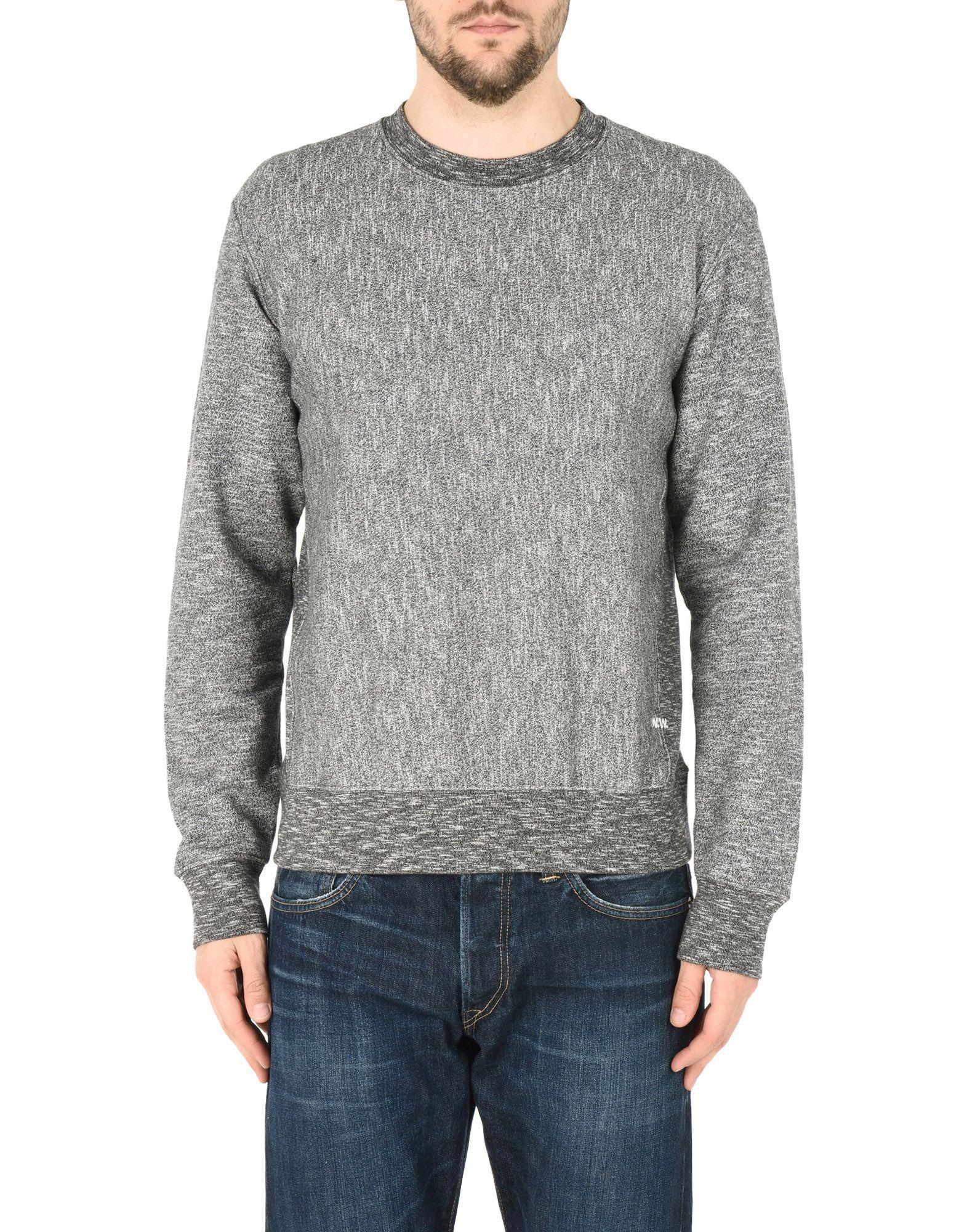 Wood Wood Black Cotton Sweatshirt