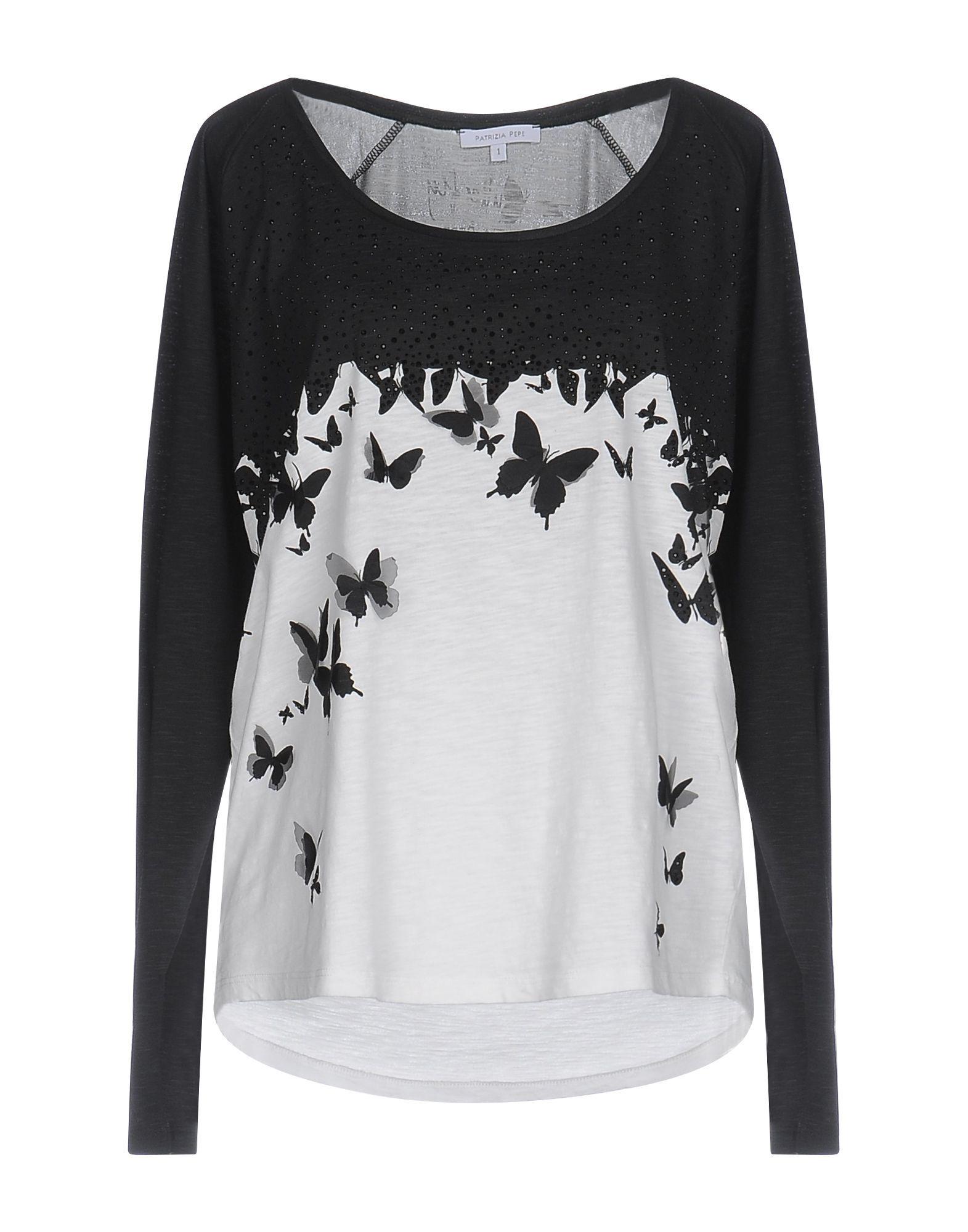 Patrizia Pepe Black Cotton Long Sleeve T-Shirt