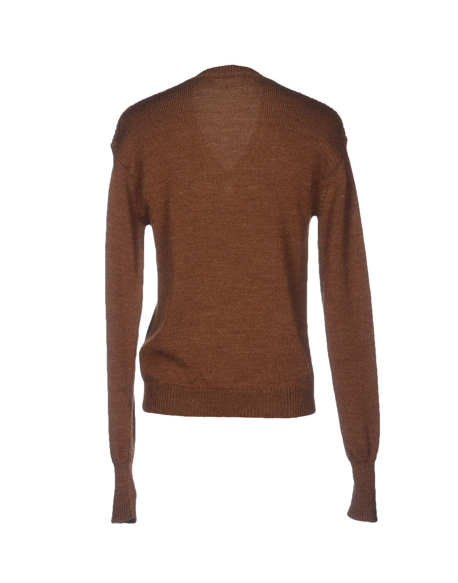 Dsquared2 Khaki Wool Knit V-Neck Jumper
