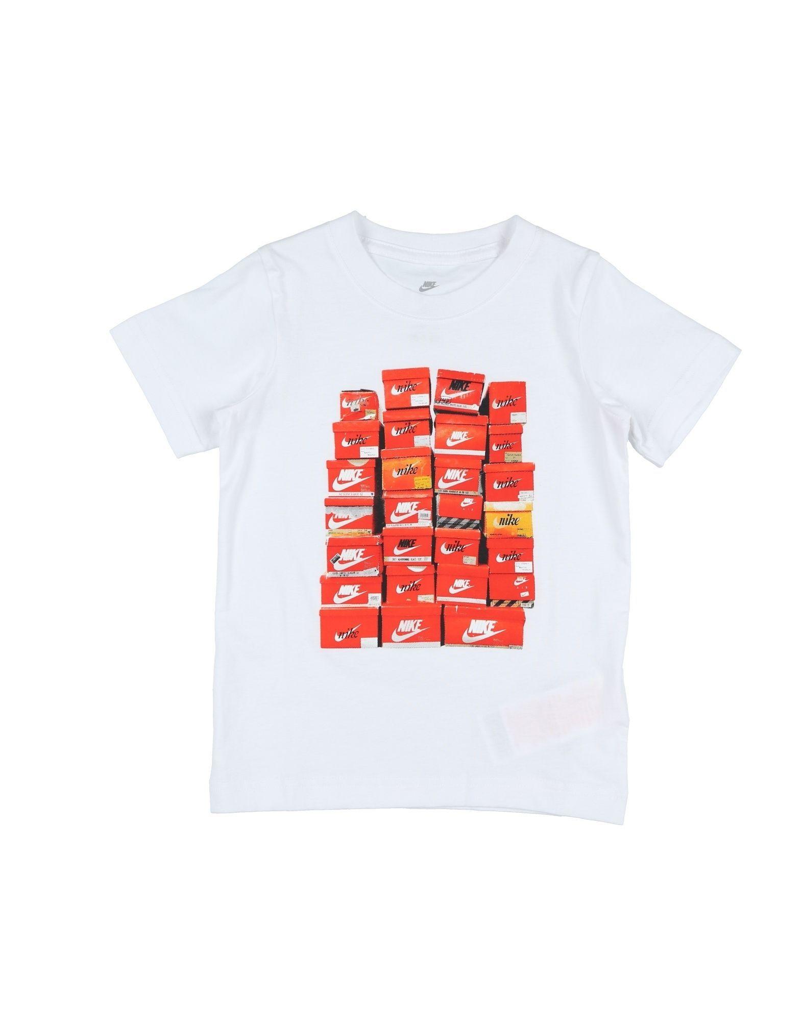 Nike White Boy Cotton T-Shirt