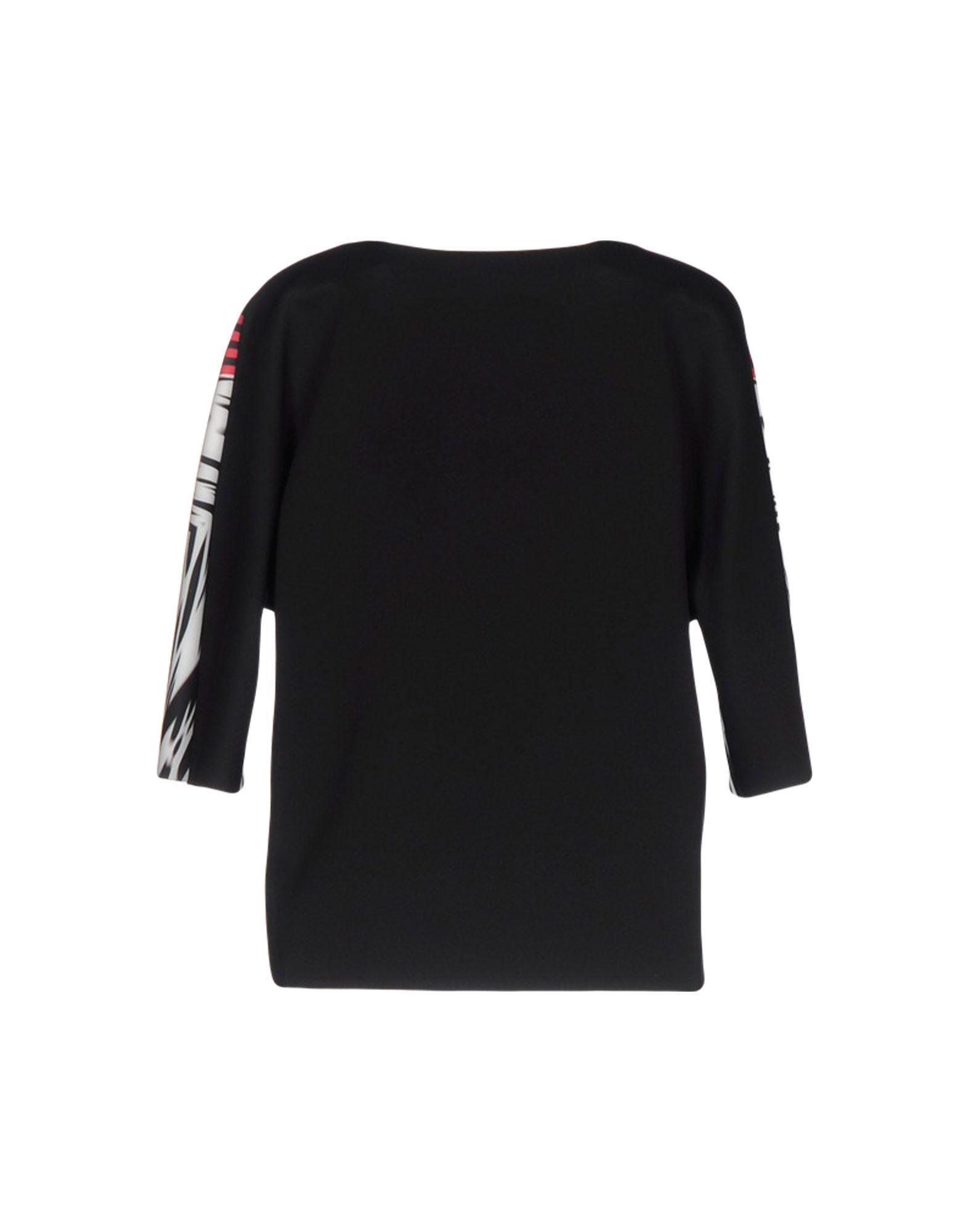 Byblos Black Print Short Sleeve Blouse