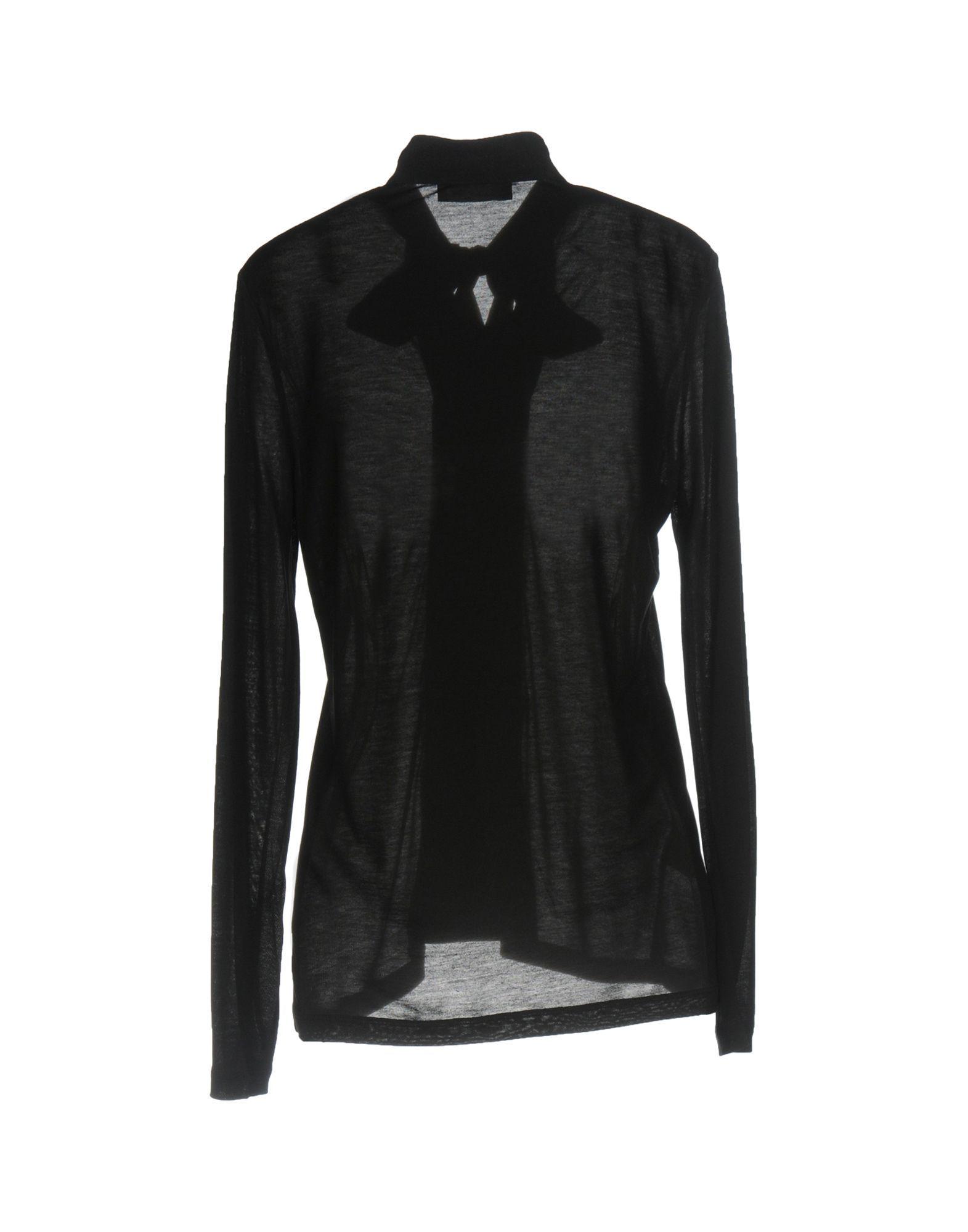 Stefanel Black Bow Collar Blouse