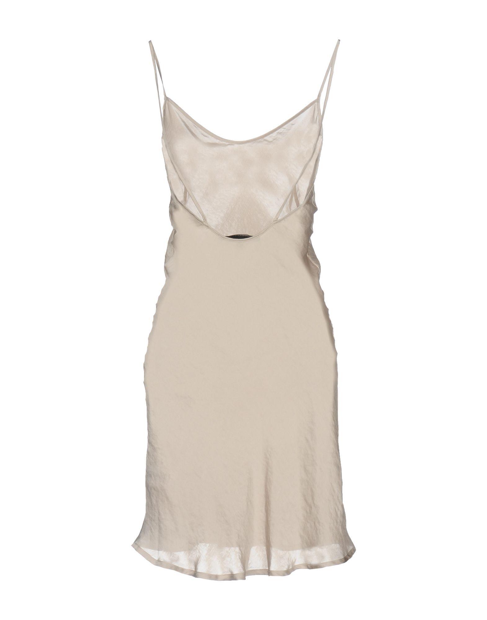 Messagerie Light Grey Satin Slip Dress