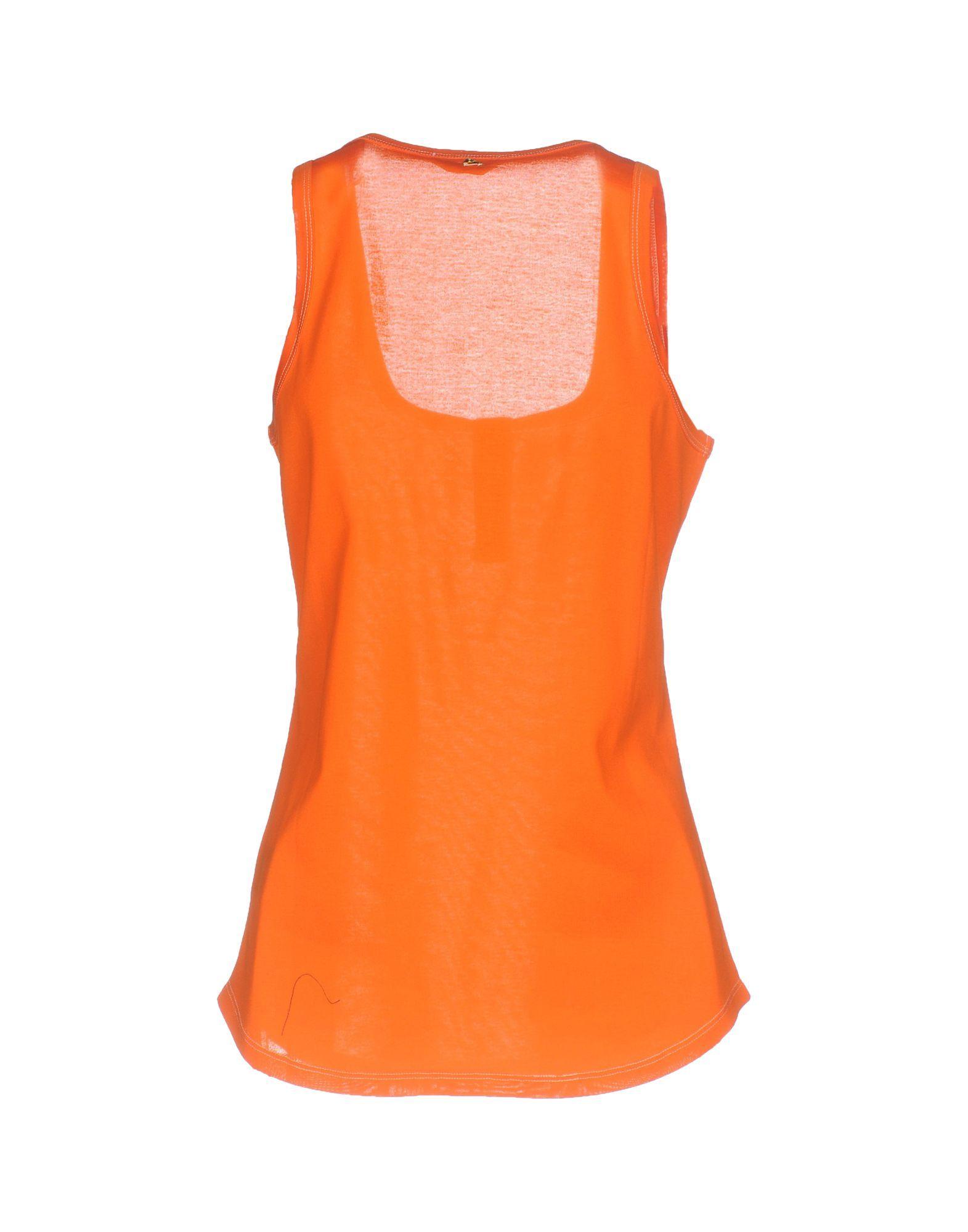 Cycle Orange Cotton Vest Top