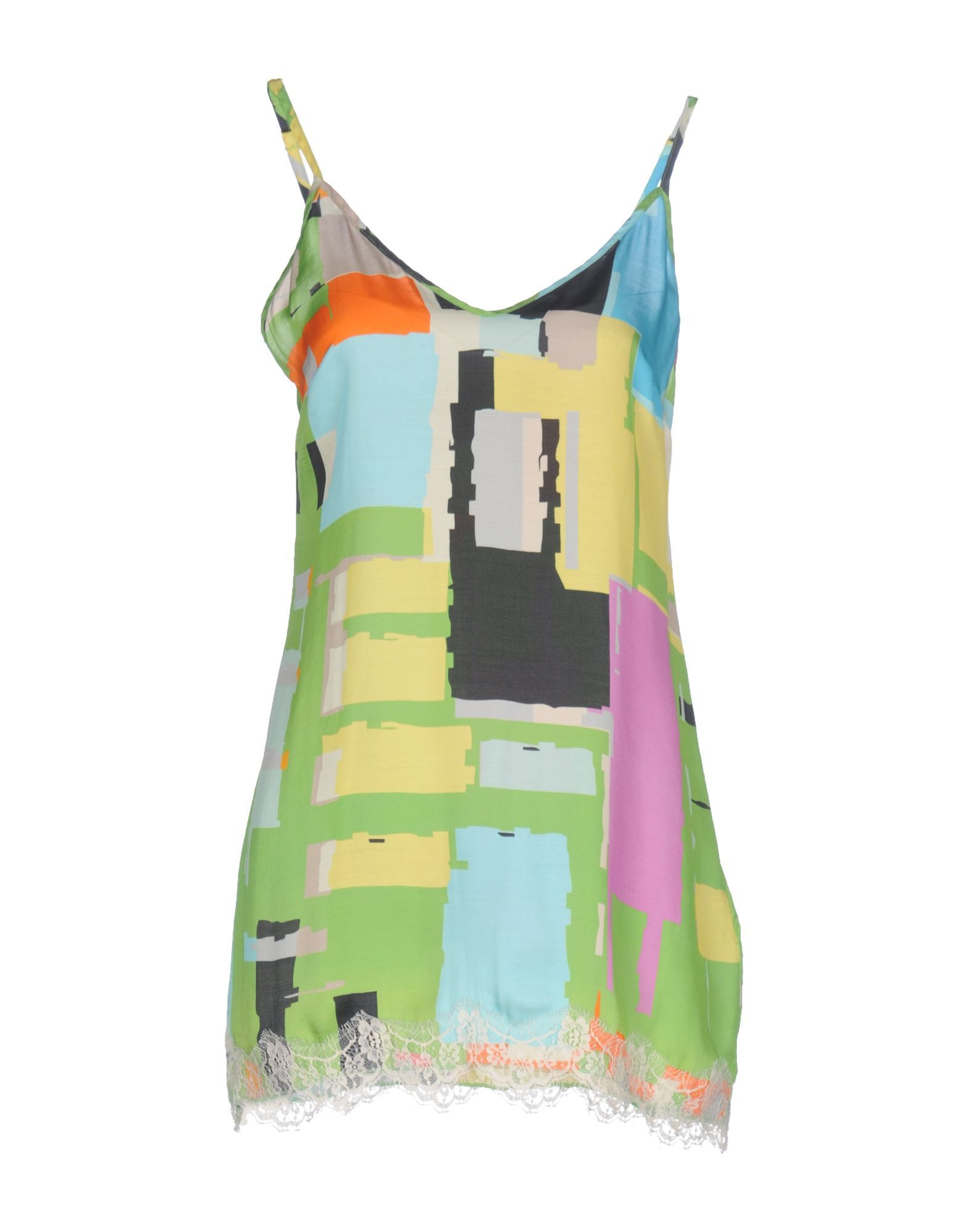 Pink Memories Acid Green Print Camisole Dress