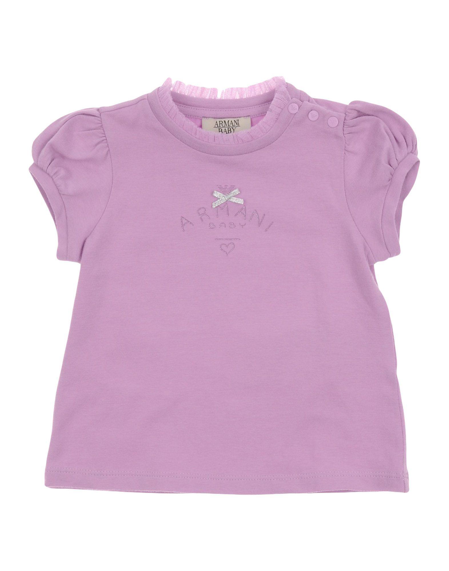 TOPWEAR Armani Junior Apricot Girl Cotton