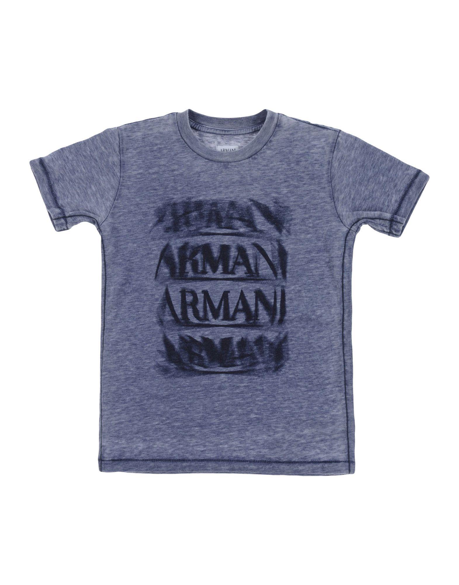 TOPWEAR Armani Junior Slate blue Boy Polyester