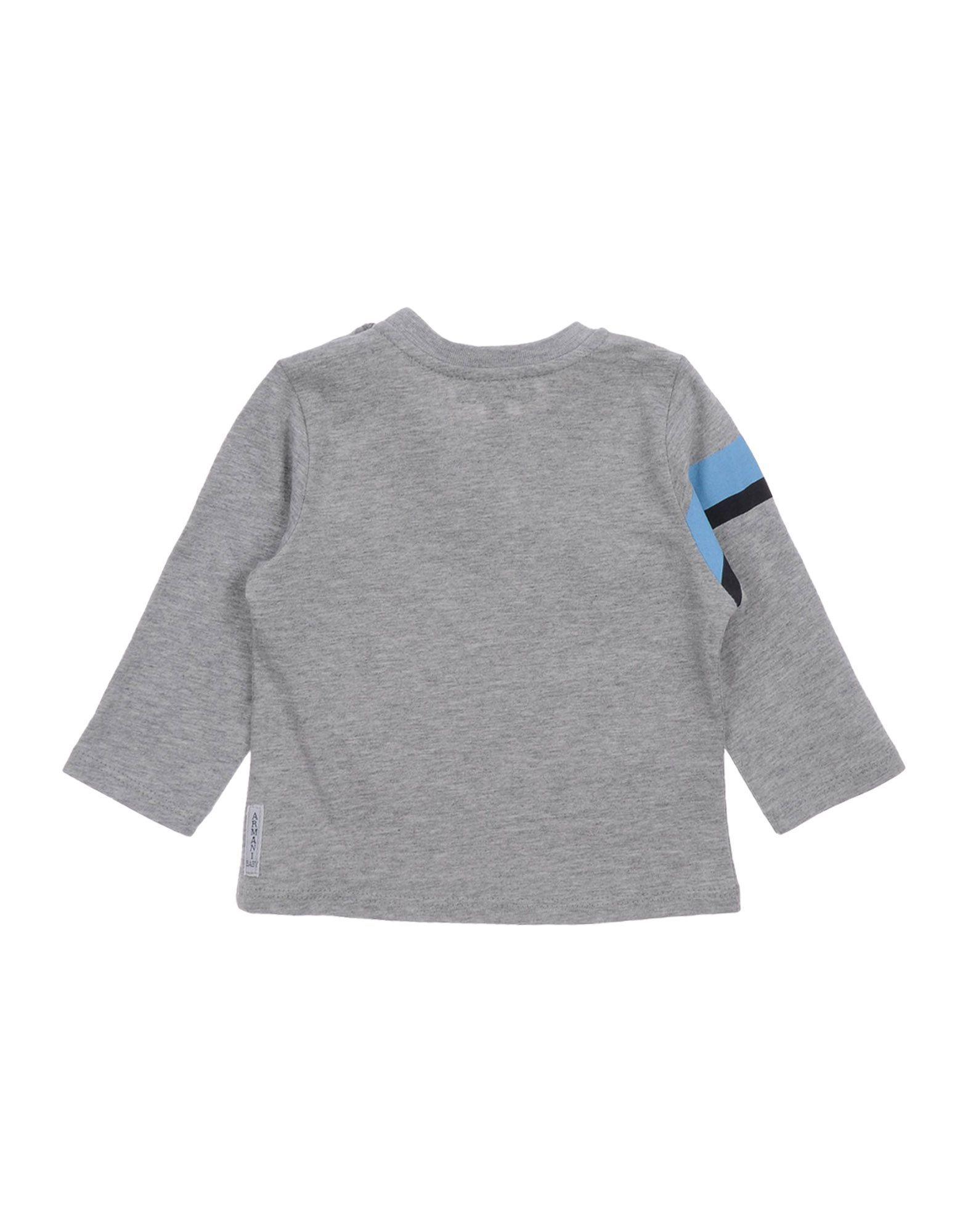 TOPWEAR Armani Junior Light grey Boy Cotton
