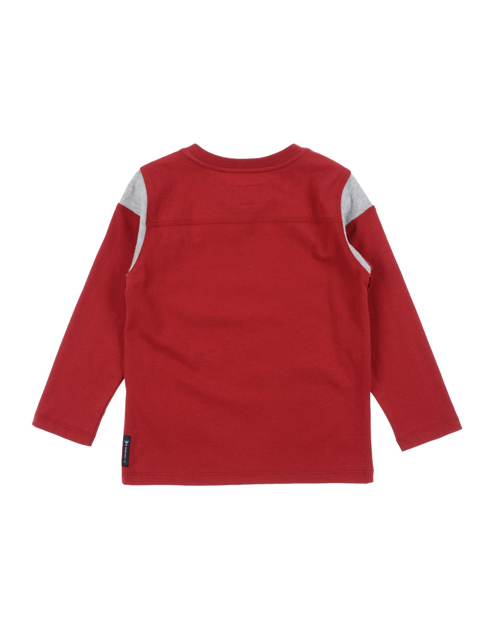 TOPWEAR Armani Junior Brick red Boy Cotton