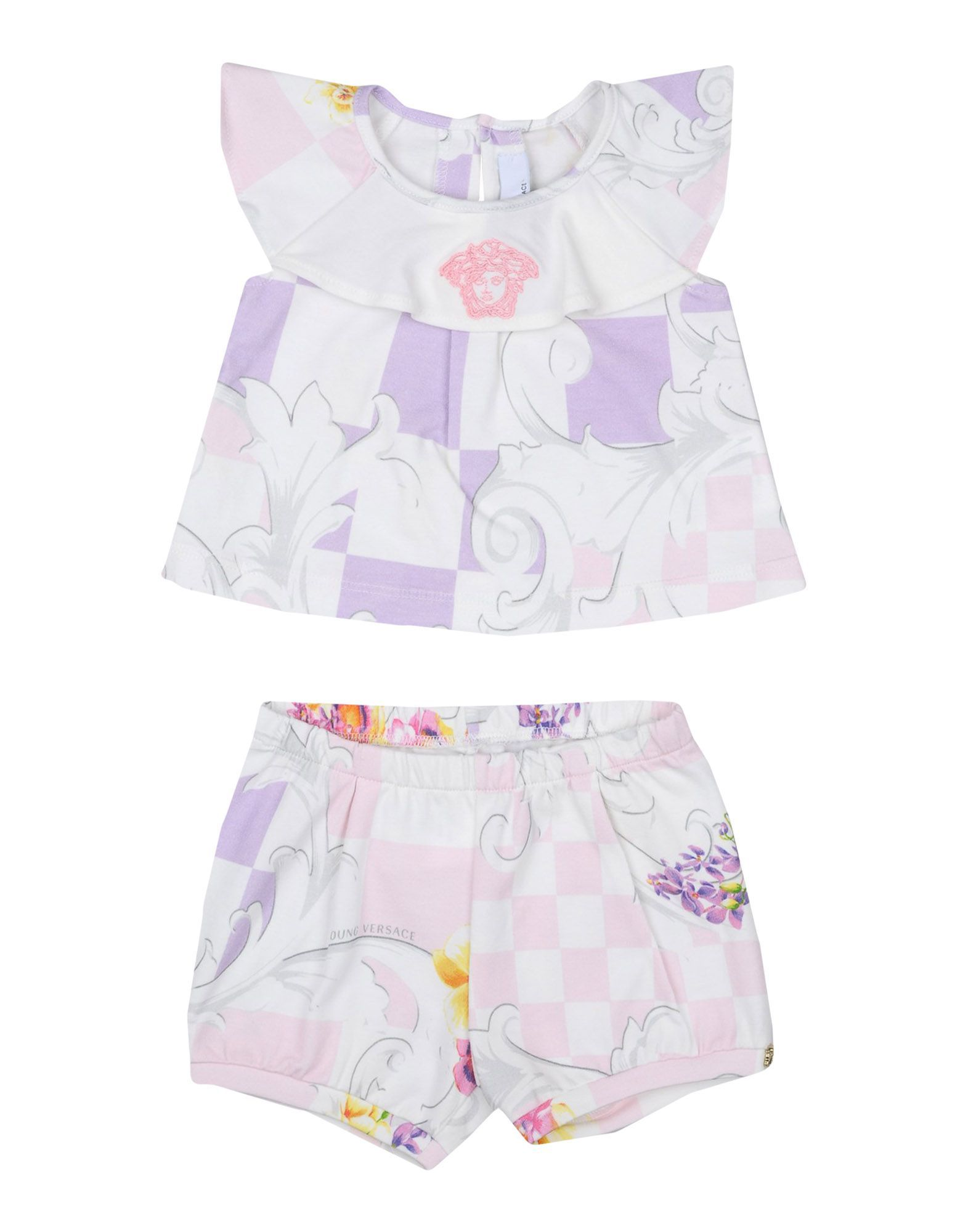 Versace Young Ivory Girl Cotton Set