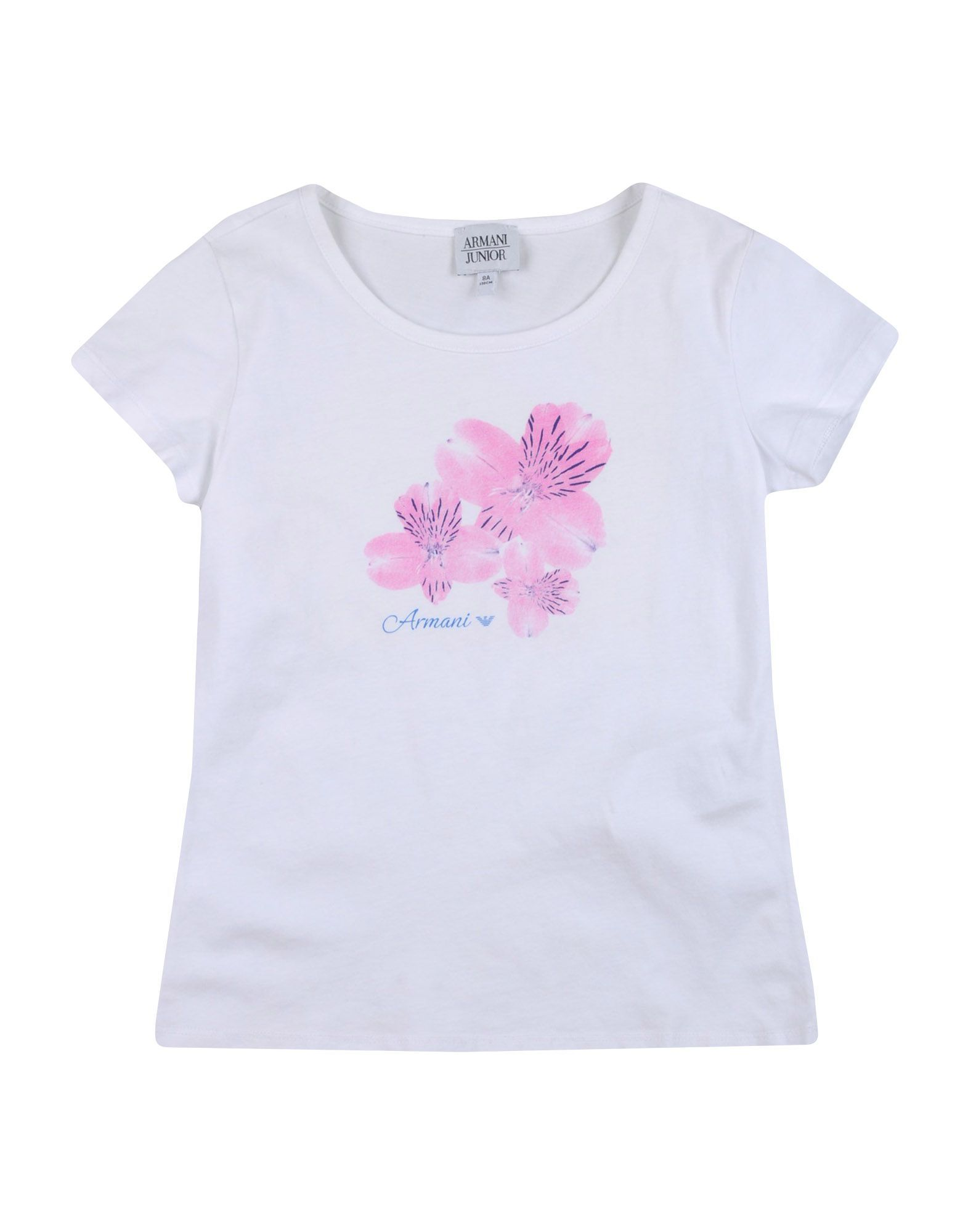 TOPWEAR Armani Junior White Girl Cotton