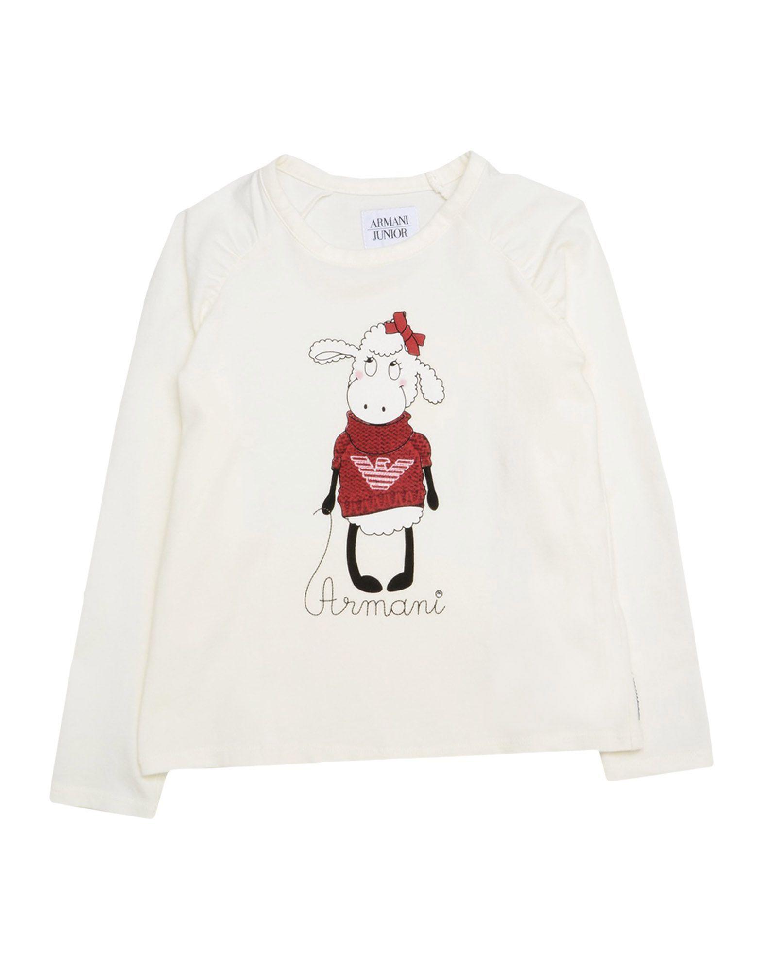 TOPWEAR Armani Junior Ivory Girl Cotton