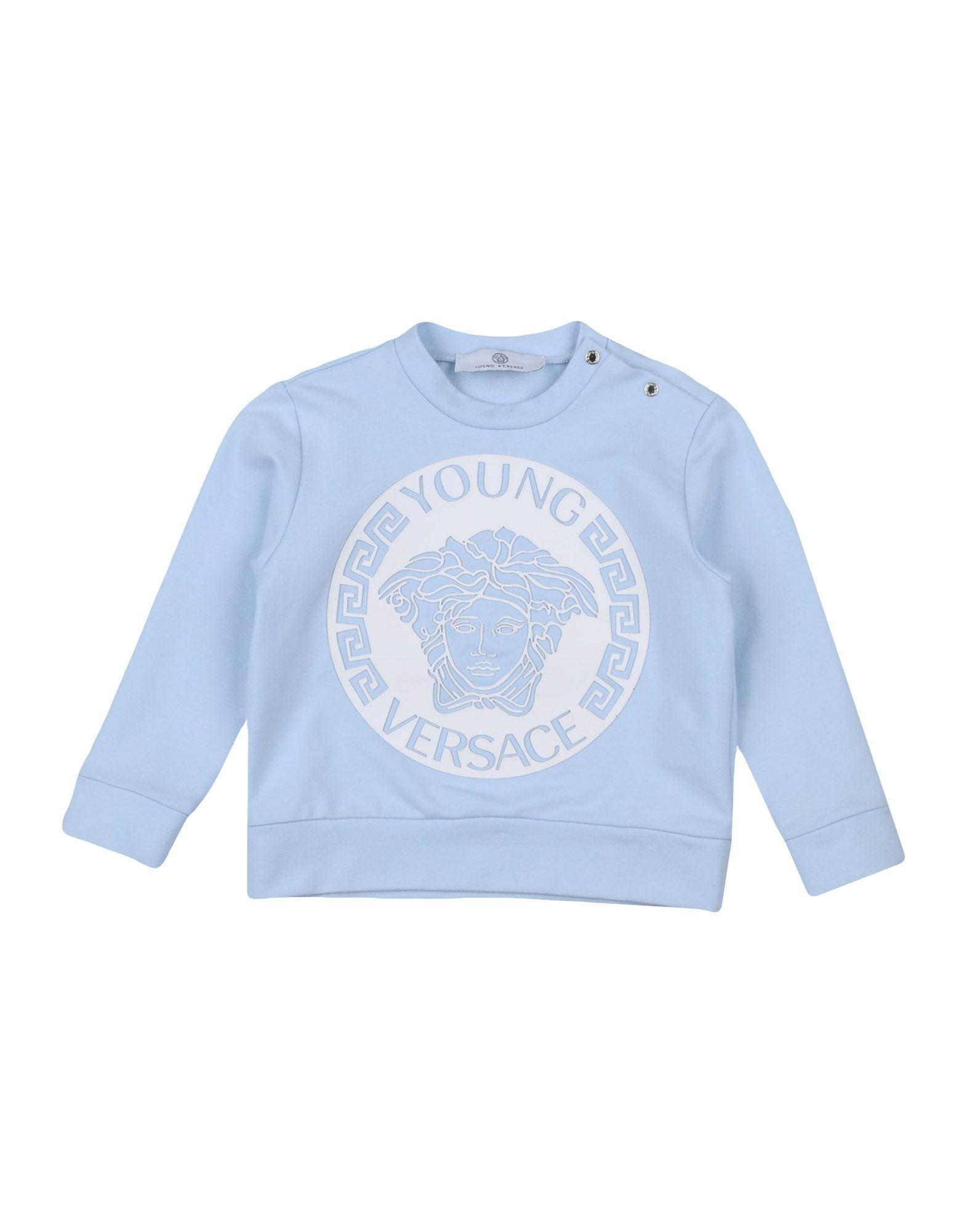 TOPWEAR Versace Young Sky blue Boy Cotton