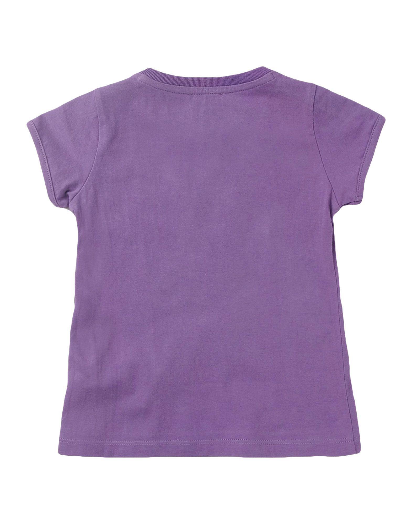 Armani Junior Purple Girl Cotton T-Shirt