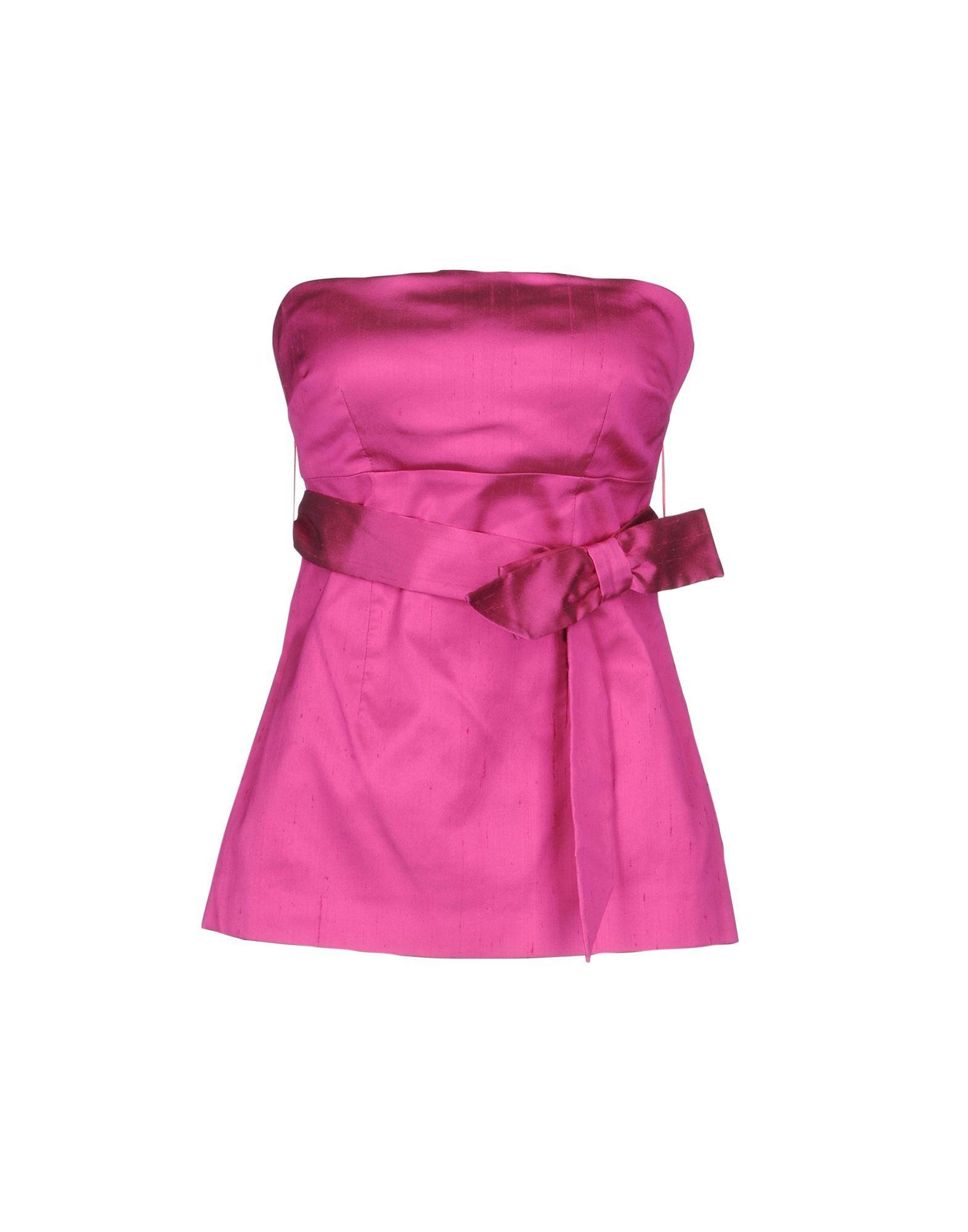 P.A.R.O.S.H. Fuchsia Silk Strapless Top