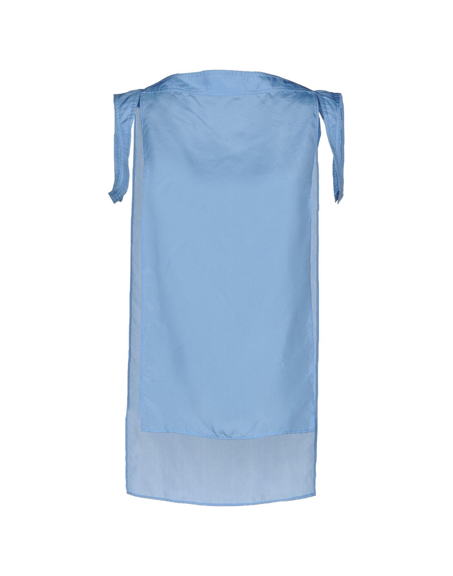Costume National Sky Blue Silk Top
