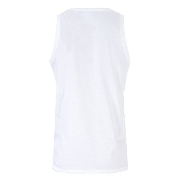 Men's Jack Jones Langmore Tank Logo Vest in White