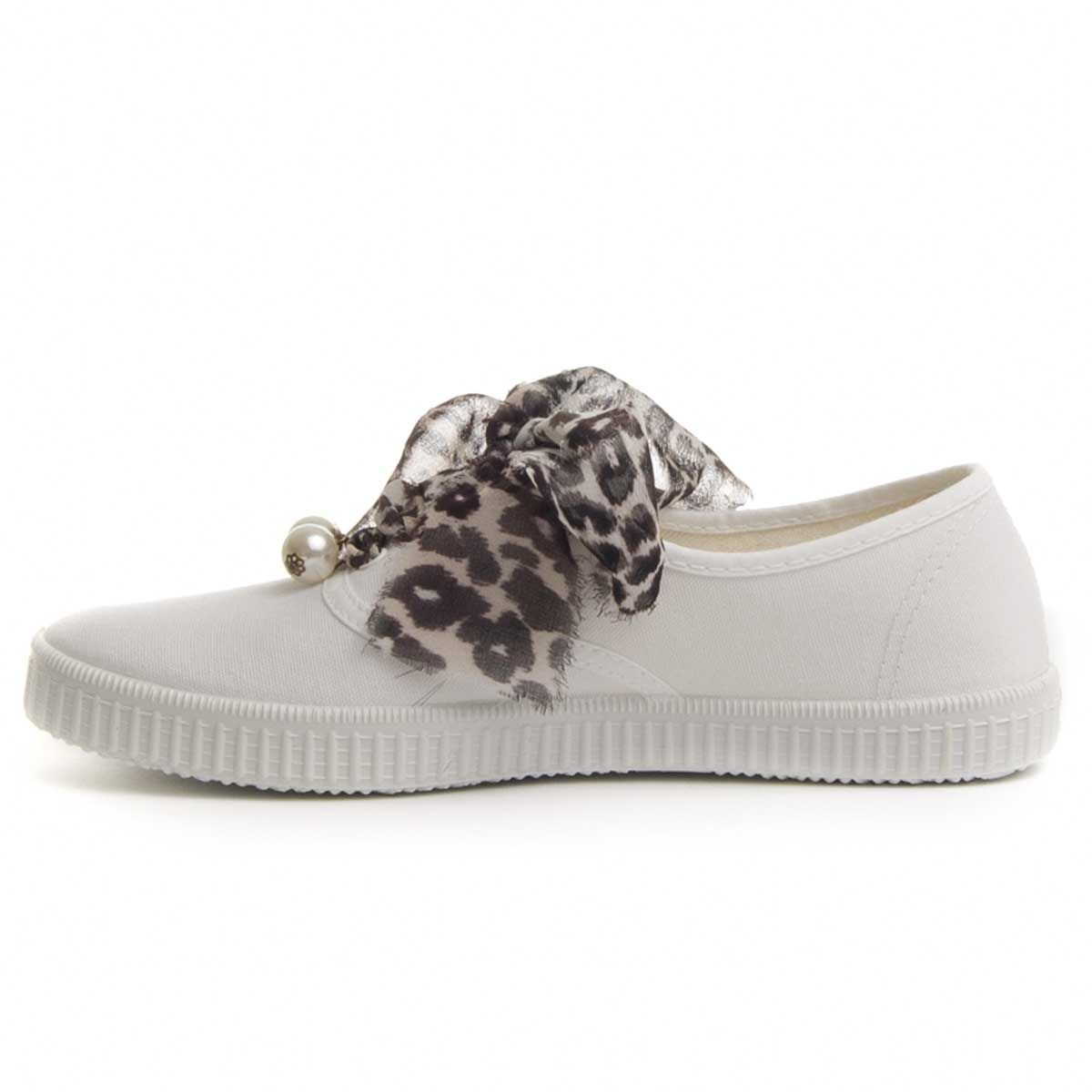 Maria Graor Ribbon Lace Sneaker in White
