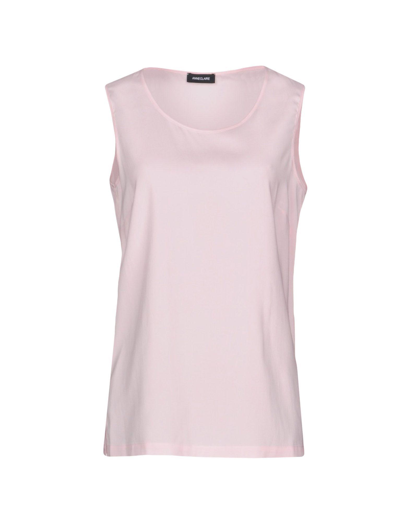 TOPWEAR Anneclaire Pink Woman Silk
