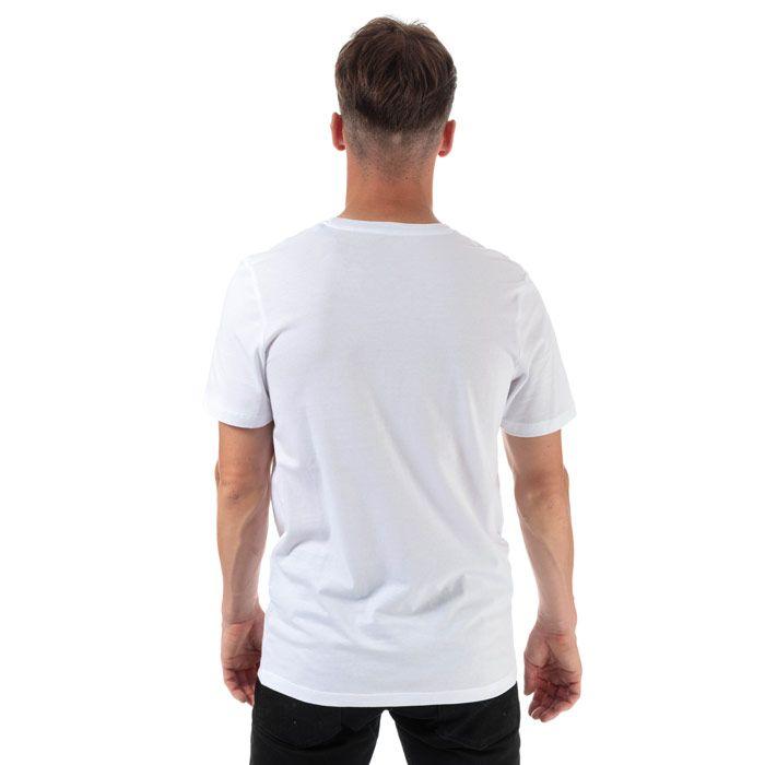 Men's Jack Jones Splash Corp Logo T-Shirt in White
