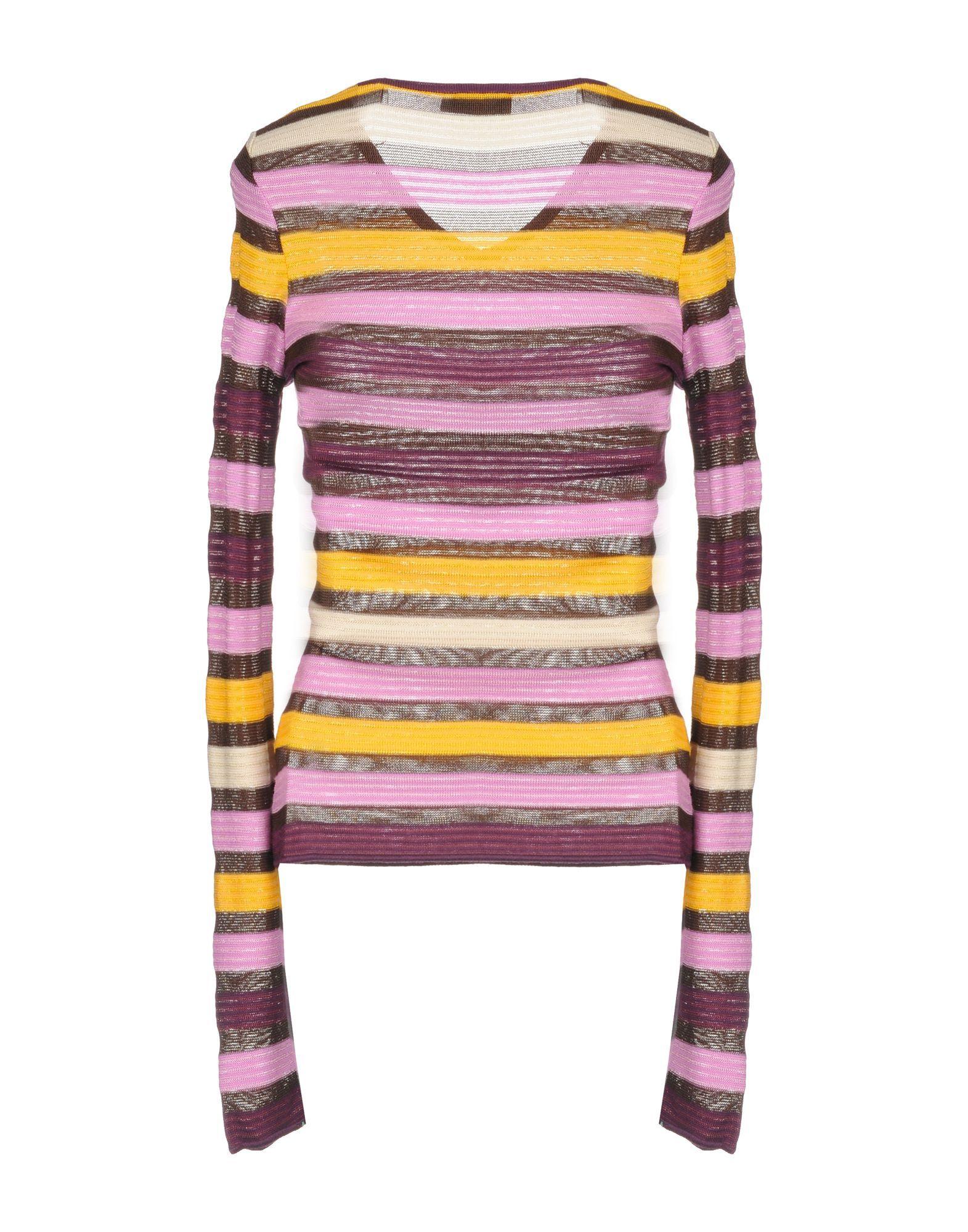 Missoni Sport Pink Stripe Wool Knit Jumper