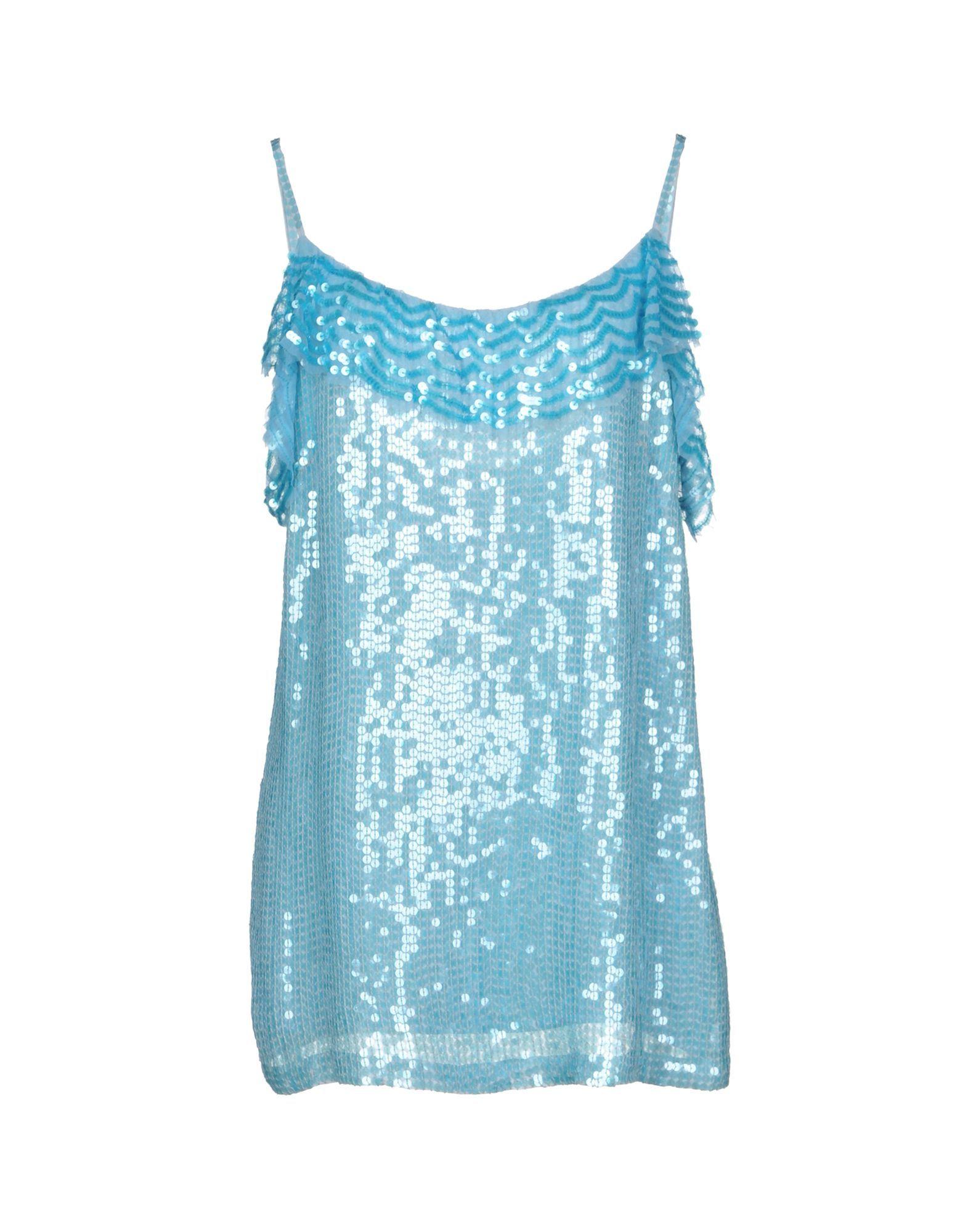 P.A.R.O.S.H. Sky Blue Sequin Camisole