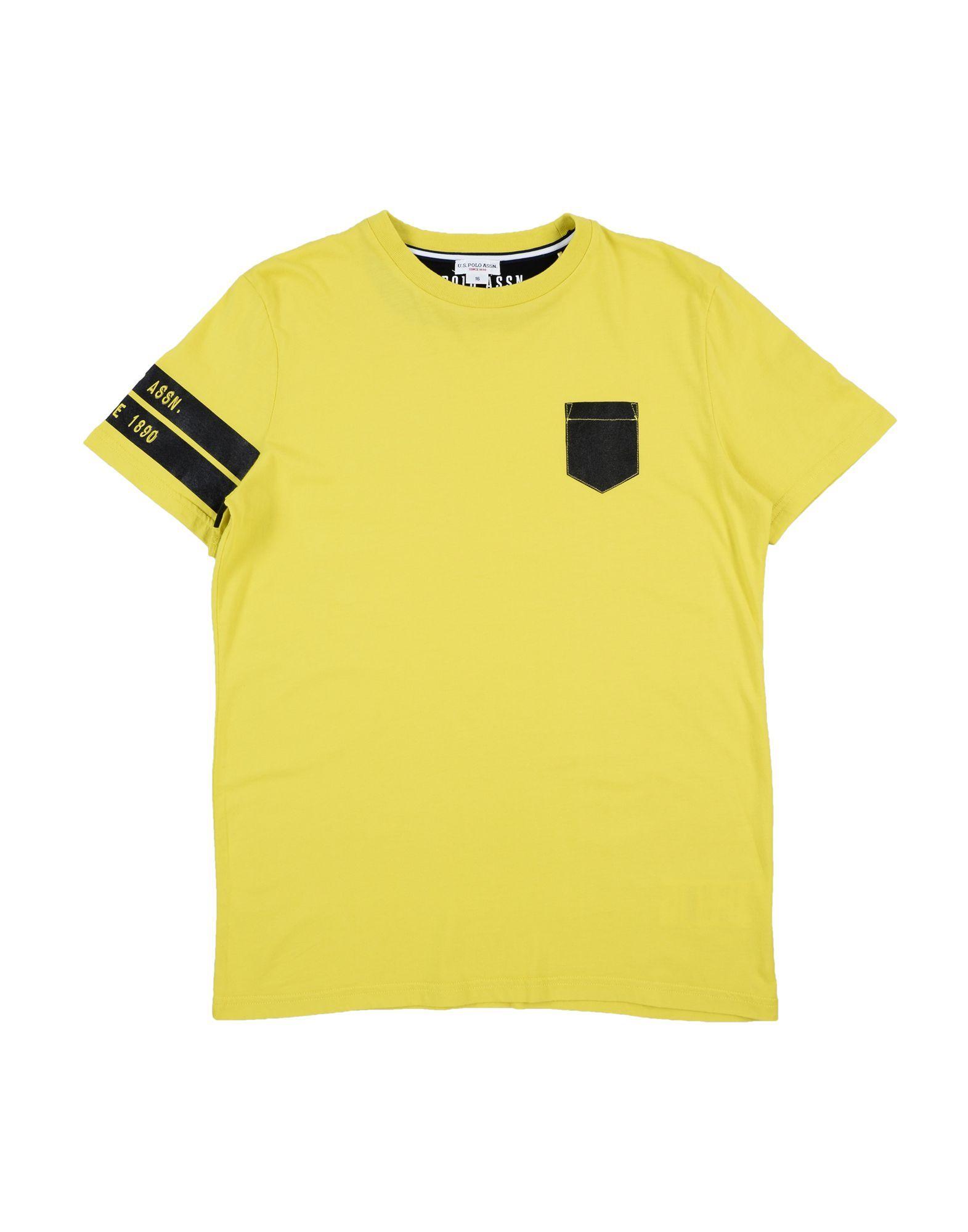 TOPWEAR Boy U.S.Polo Assn. Yellow Cotton